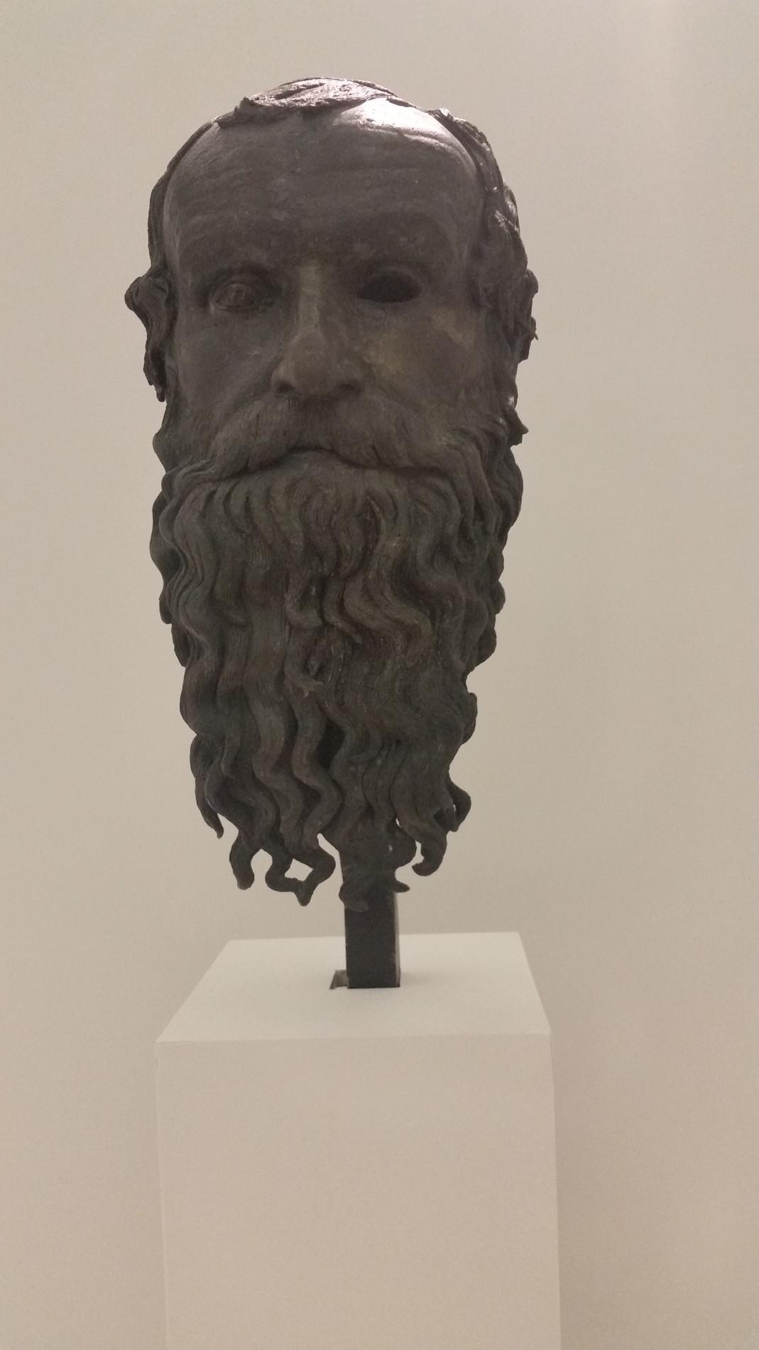 Il Museo Nazionale della Magna Grecia a Reggio Calabria, testa del filosofo