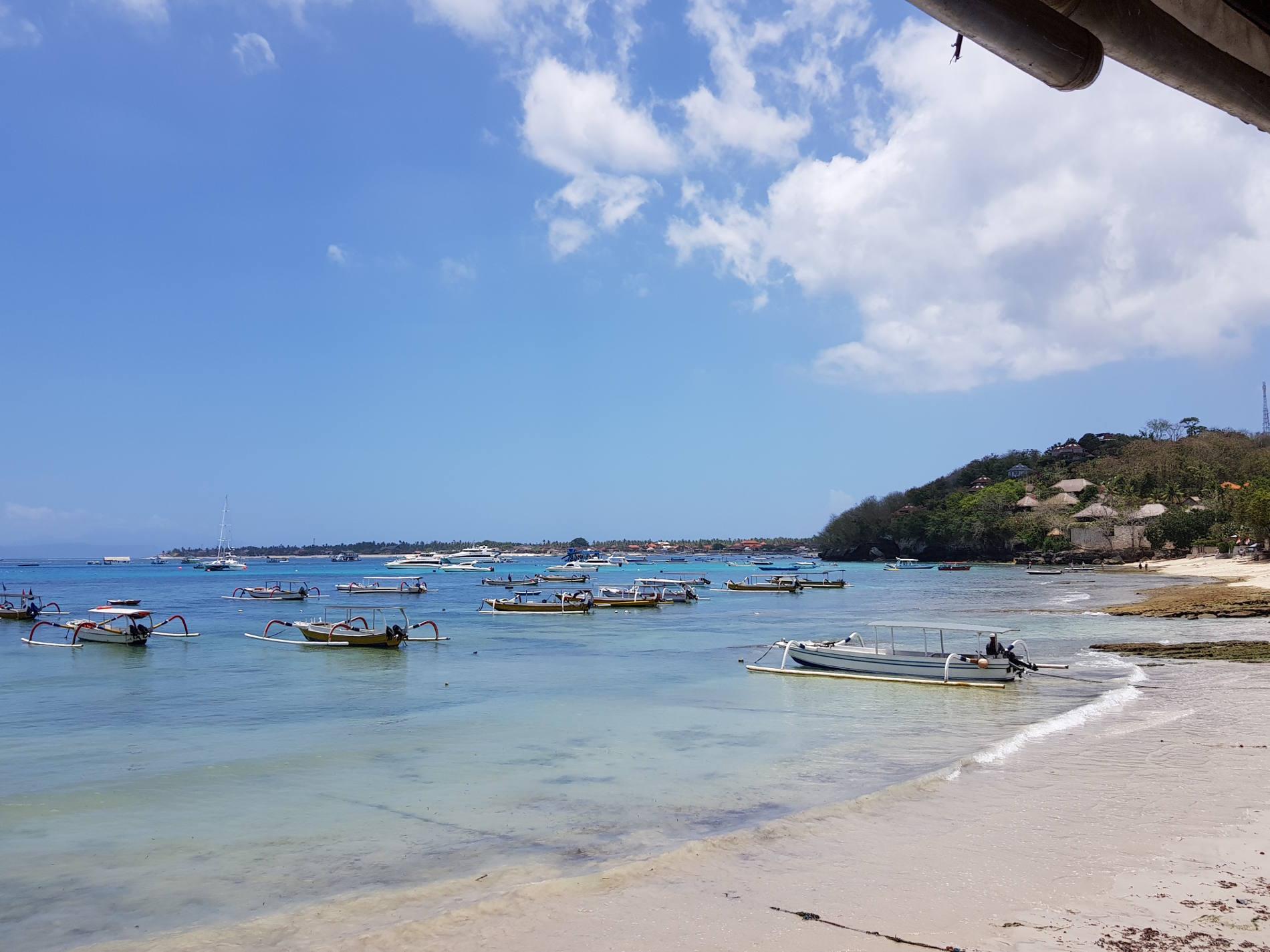 Dove dormire a Bali: vista della Baia del Tamarindo dal Bay Shore Huts