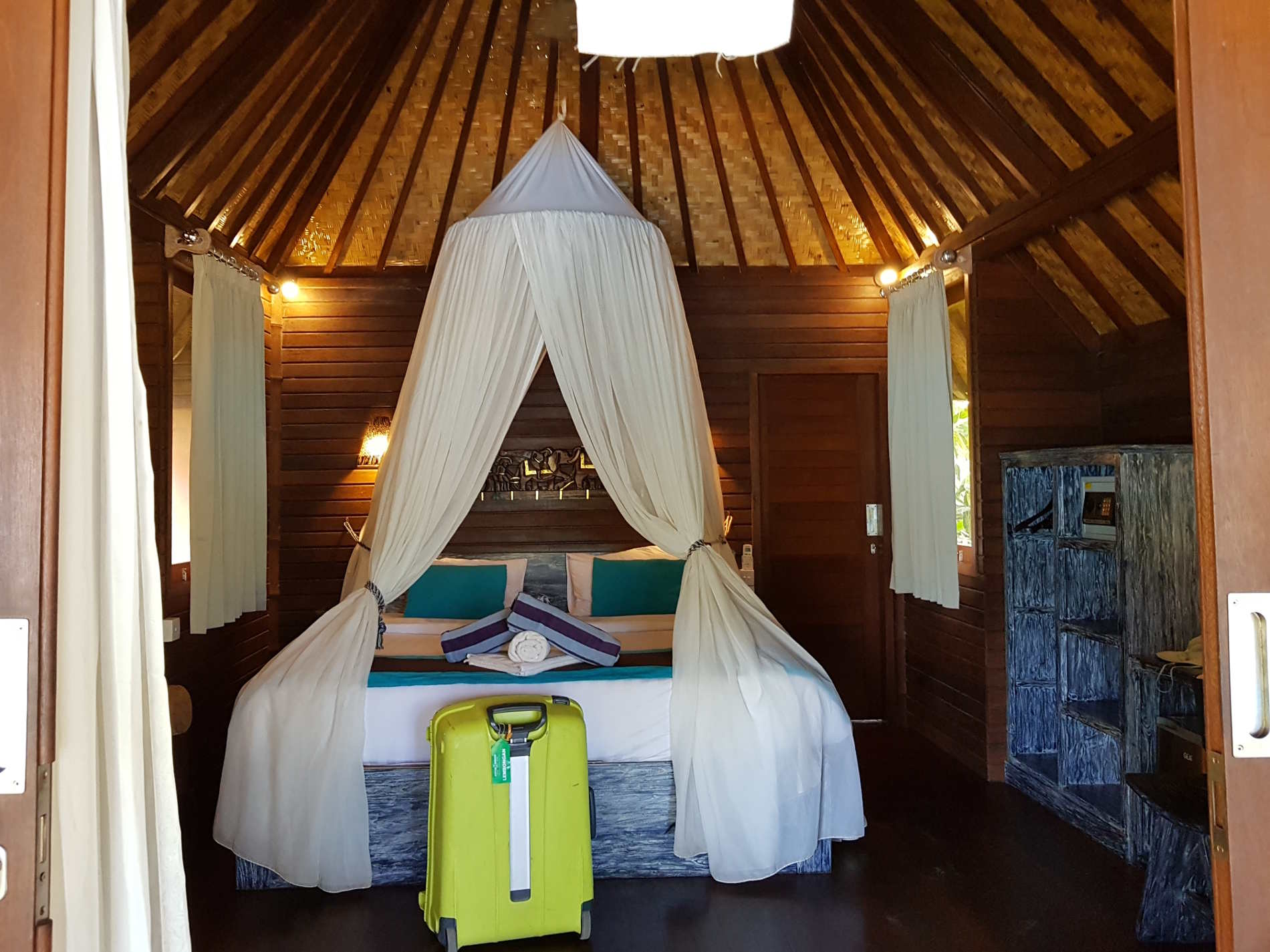 Le camere da letto al bay Shore Huts