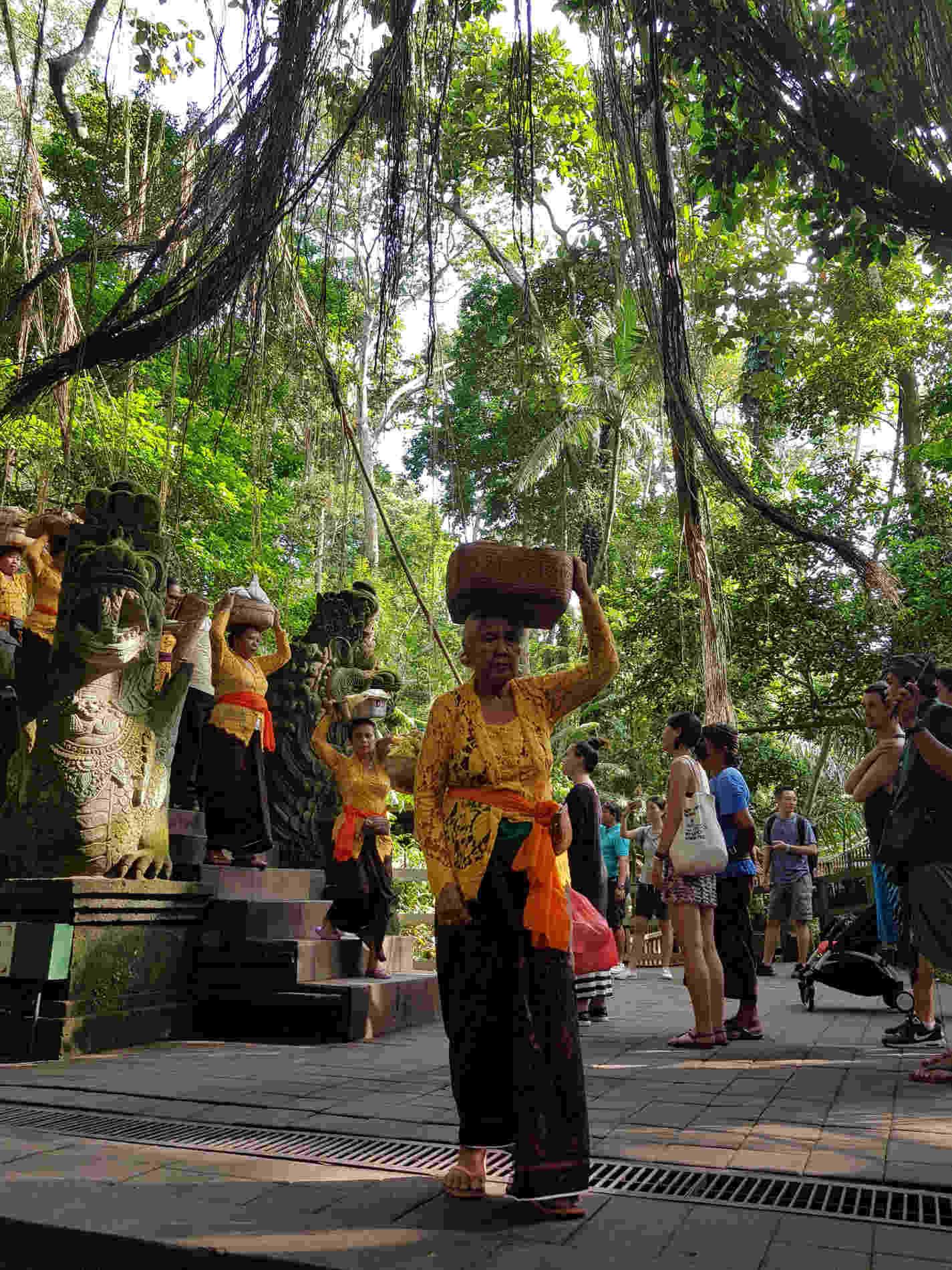 Itinerario a Bali -La Puja nella Monkey Forest vicino a Ubud