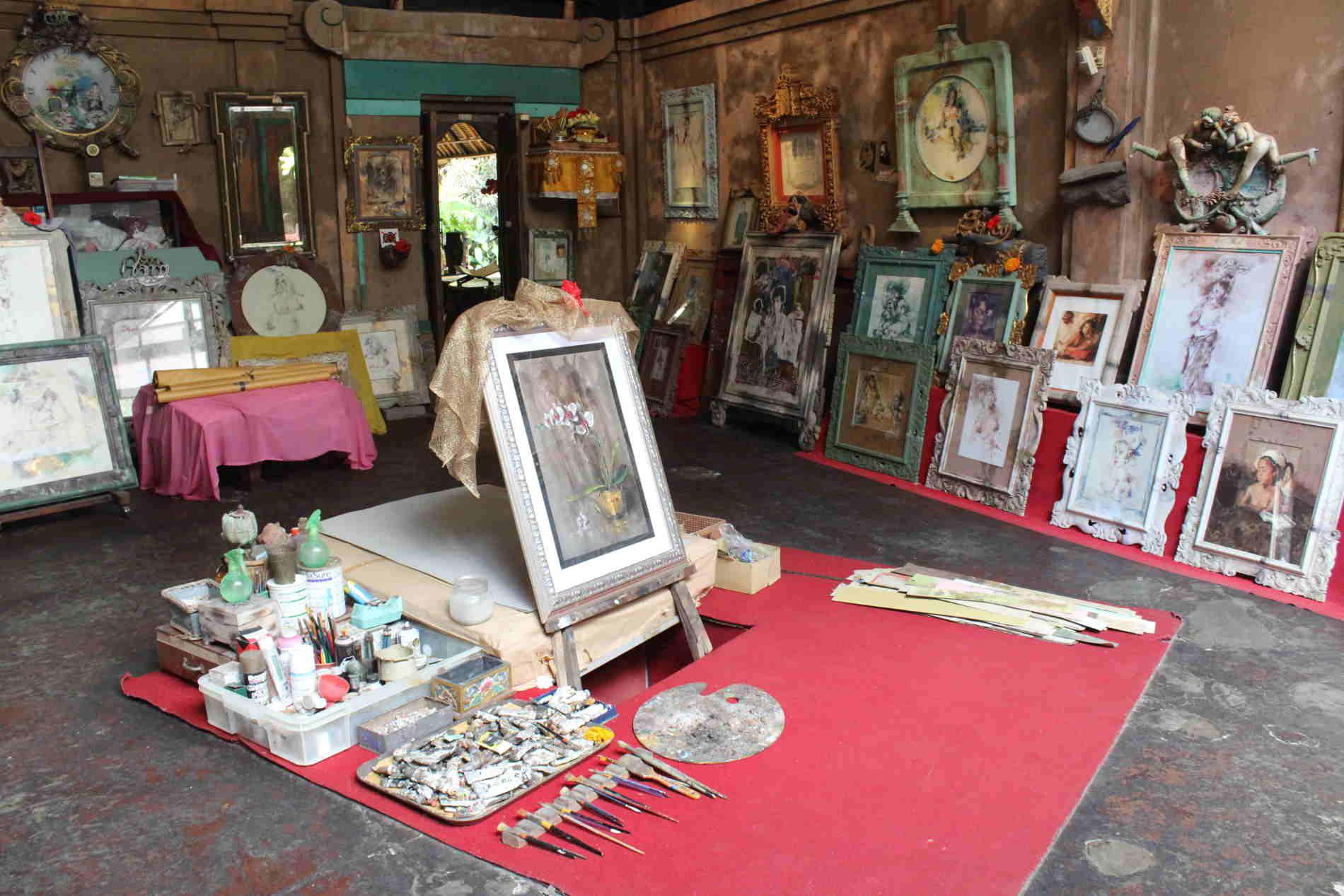 Museo Don Antonio Blanco a Ubud- Lo studio dell'artista