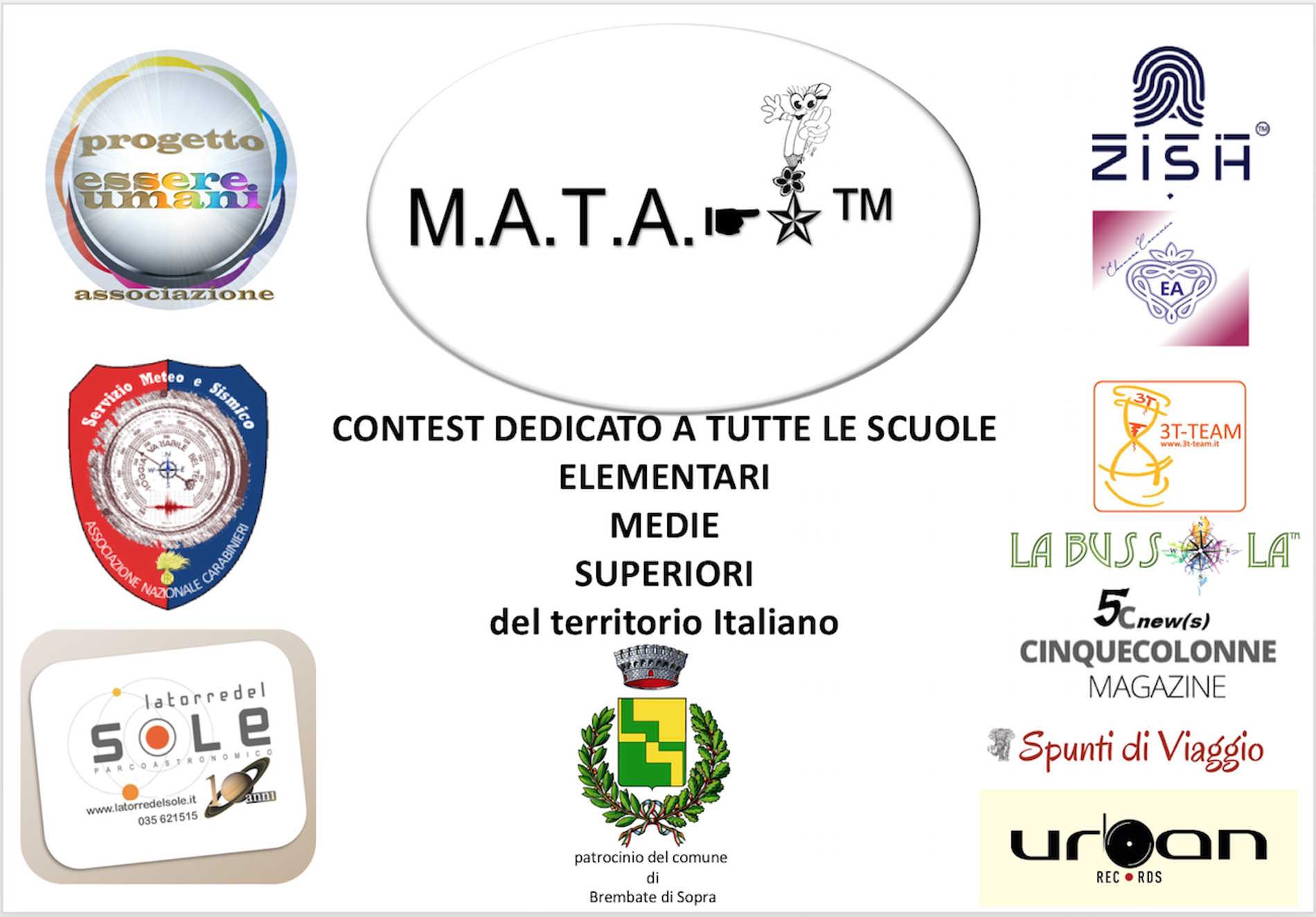 Locandina con tutti i partecipanti al progetto socio educativo MATA: si, ci sono anche io! Spunti di Viaggio - Travel and LifeStyle