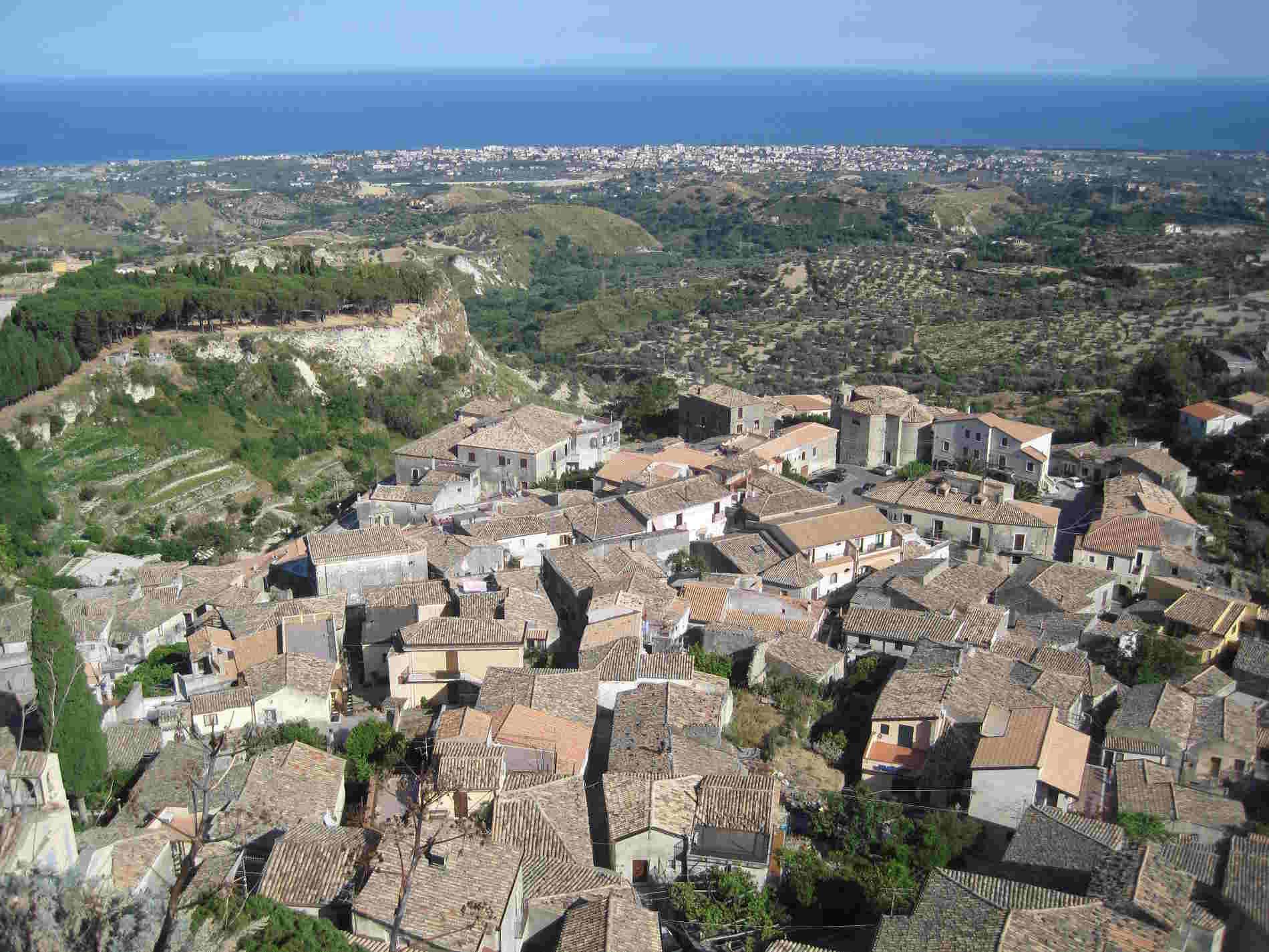 Borgo di Gerace visto dall'alto