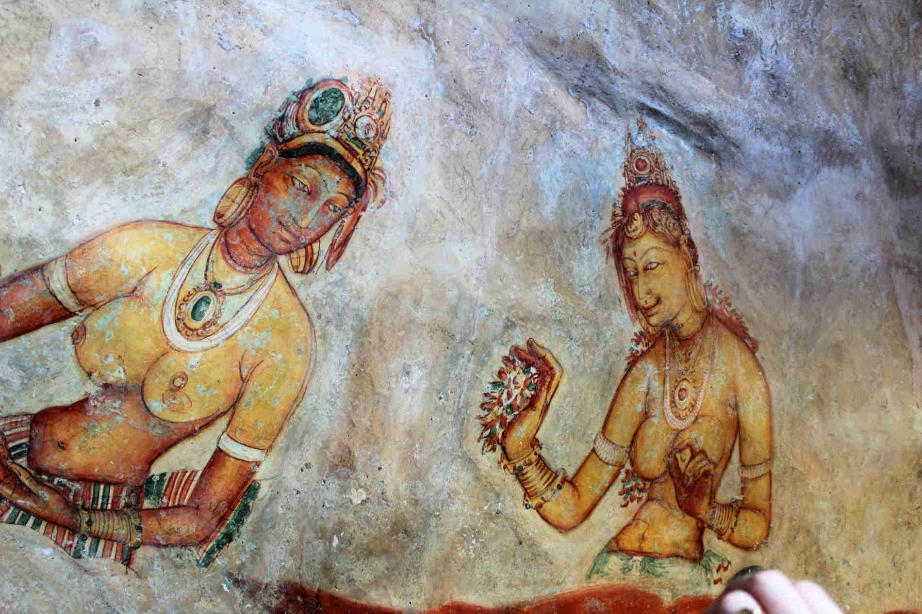 """Viaggio in Sri Lanka Gli affreschi delle splendide """"fanciulle di Sigiriya"""""""