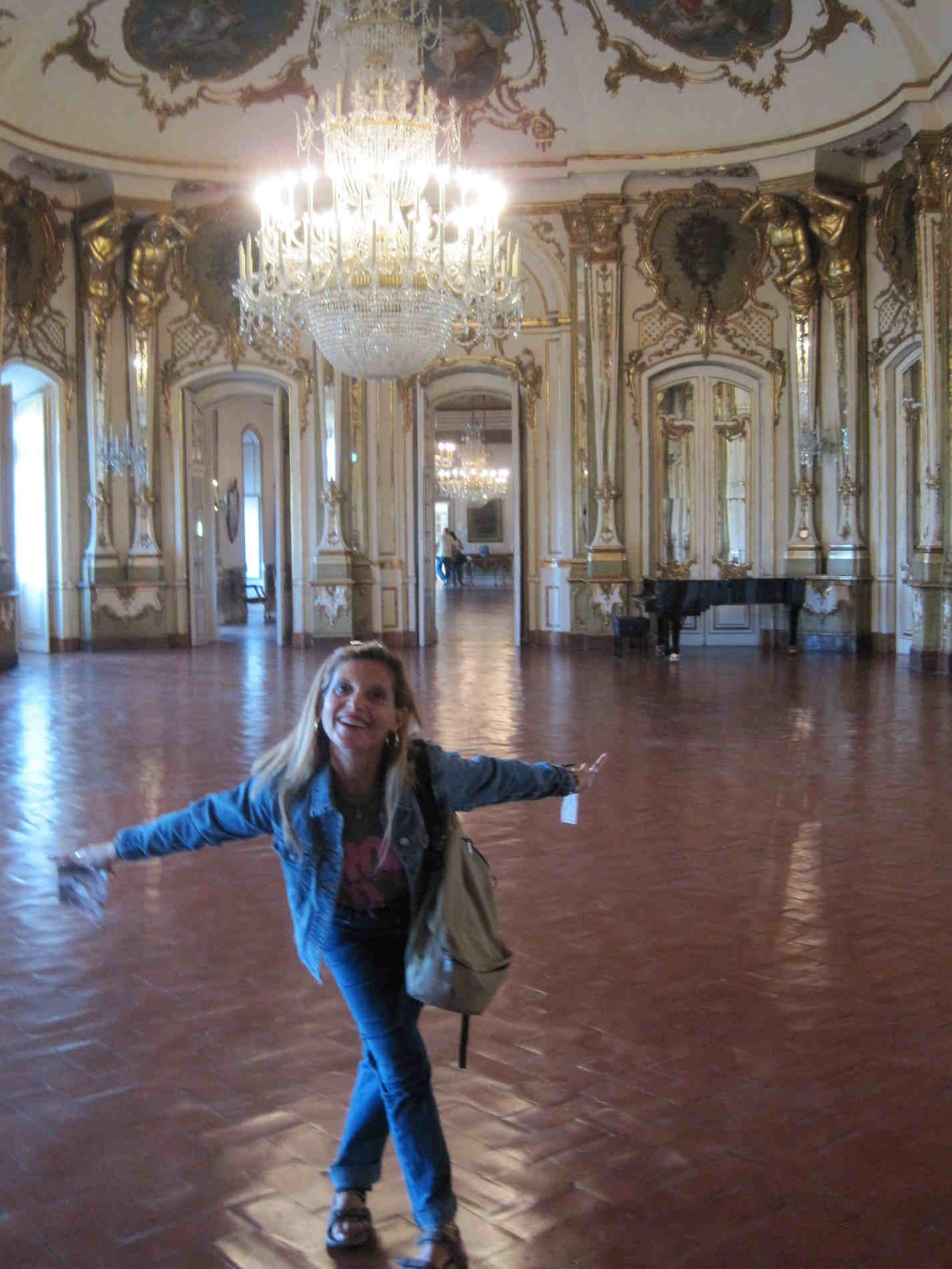 interni del Palazzo Nazionale di Queluz e il mio inchino