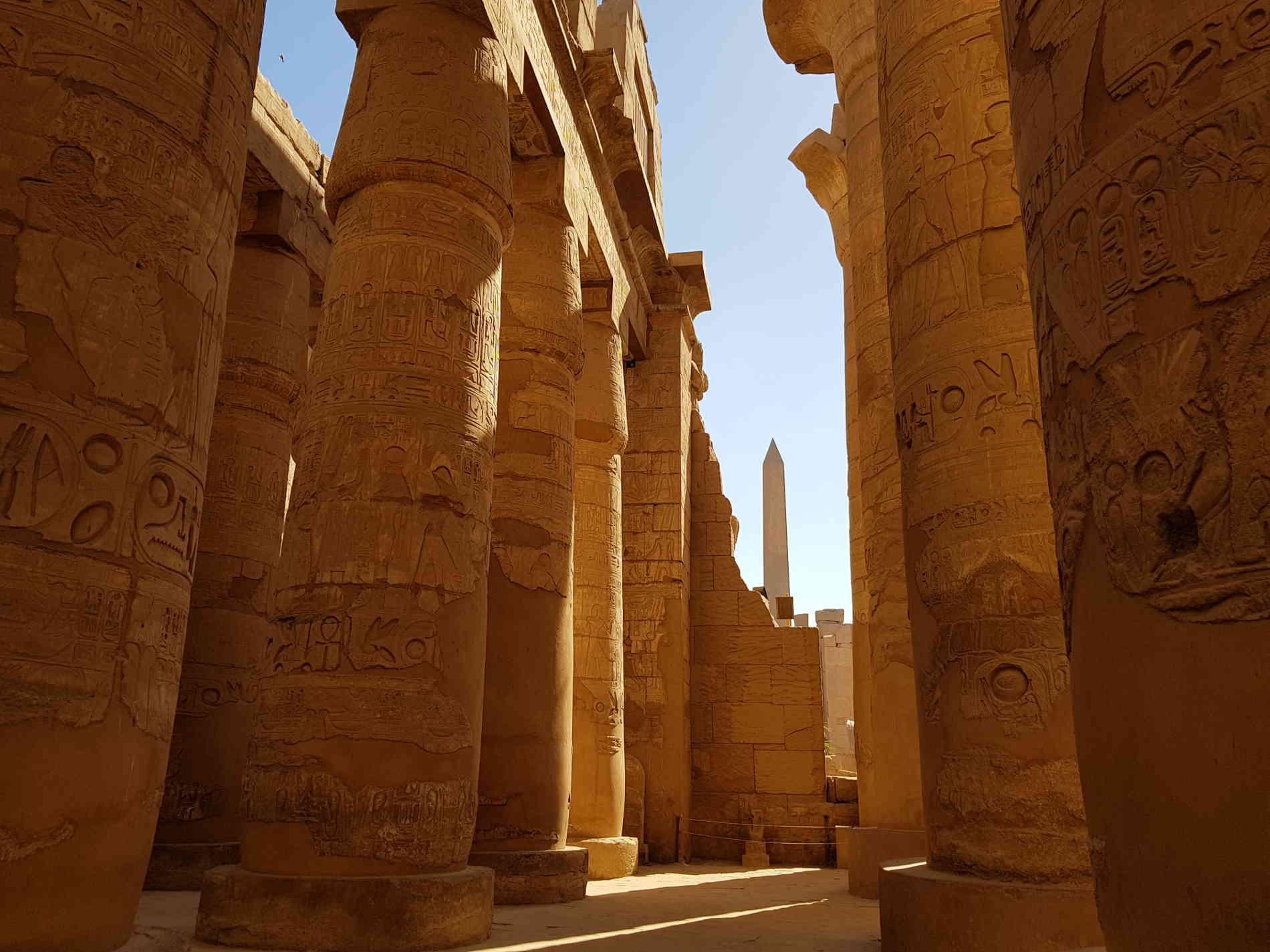 crociera sul Nilo -La Grande Sala Ipostila di Karnak a Luxor