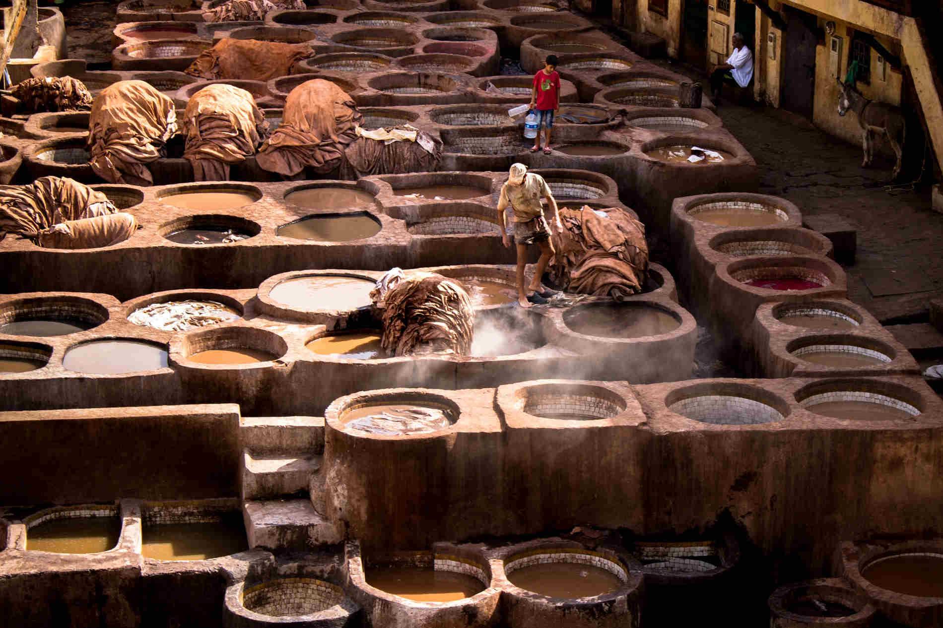 le concerie di Fes Fez Viaggio in Marocco