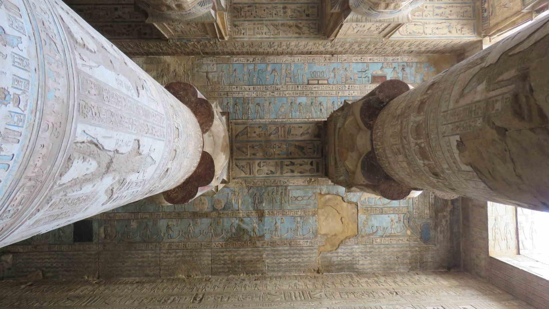 Colonne tempio di Dendera crociera sul Nilo