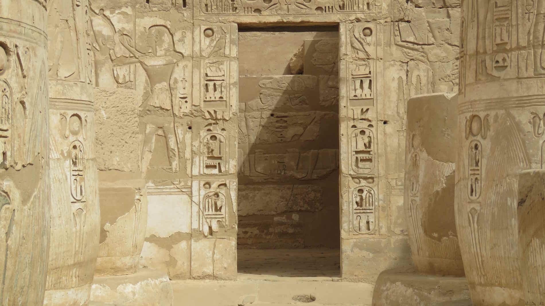 ortile nel sito archeologico di Abydos crociera sul nilo