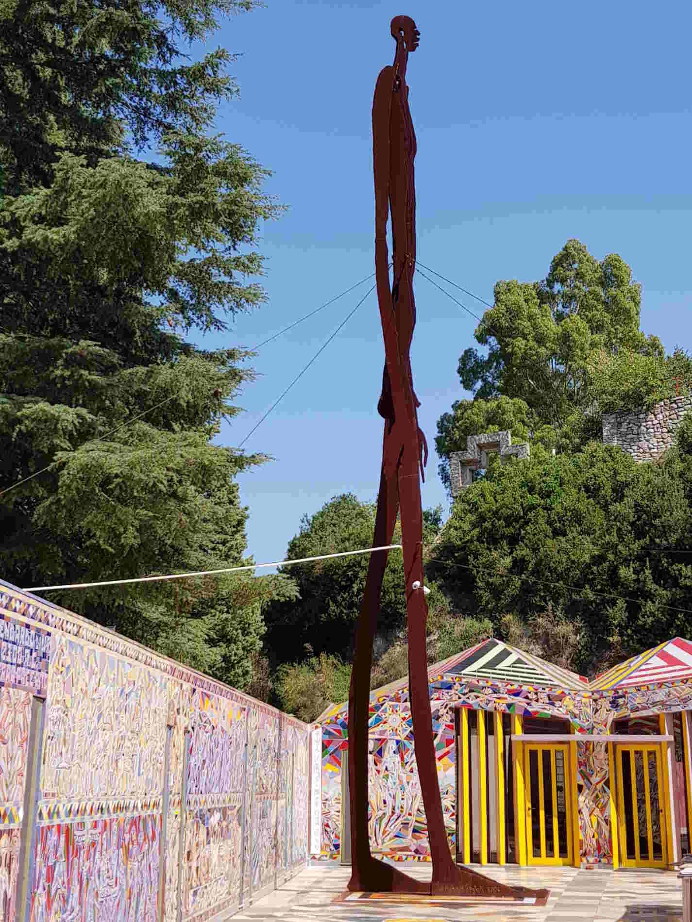 Musaba L'ombra della Sera- Scultura nel Chiostro della Foresteria