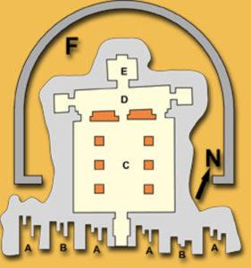 Mappa del tempio piccolo di Abu Simbel