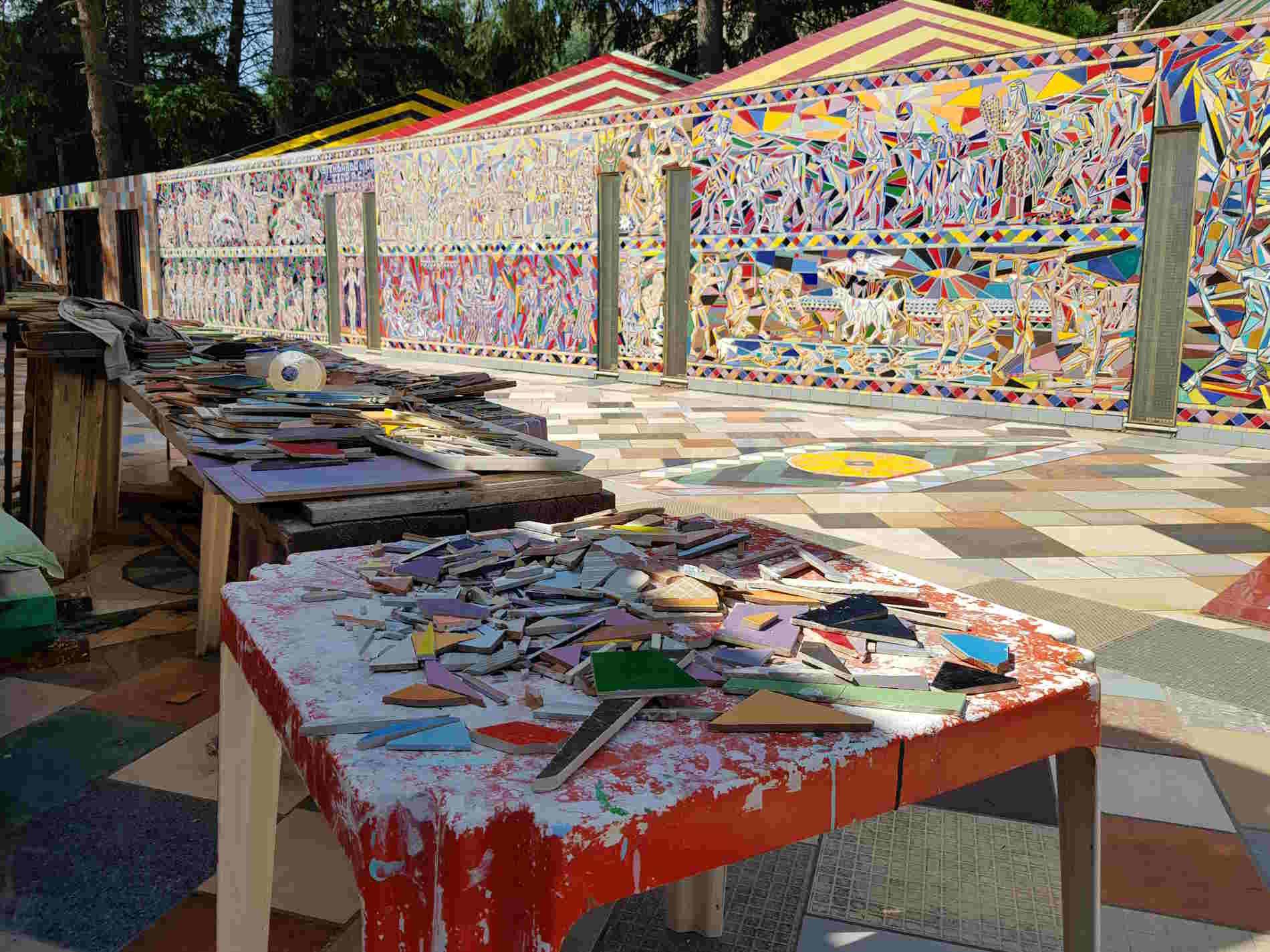 Musaba Chiostro della Foresteria Mosaici