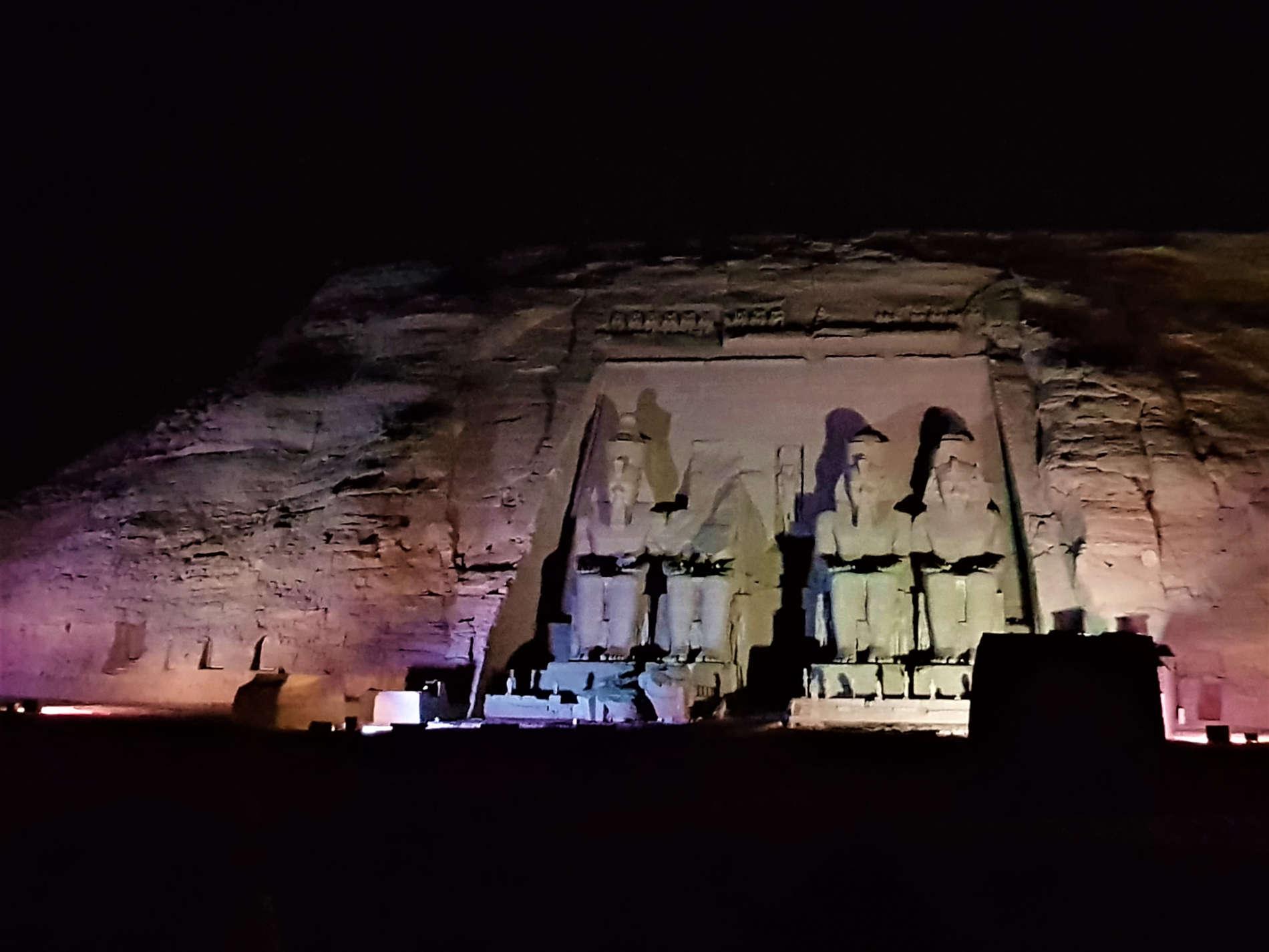 Suoni e Luci sul Grande Tempio di Abu Simbel