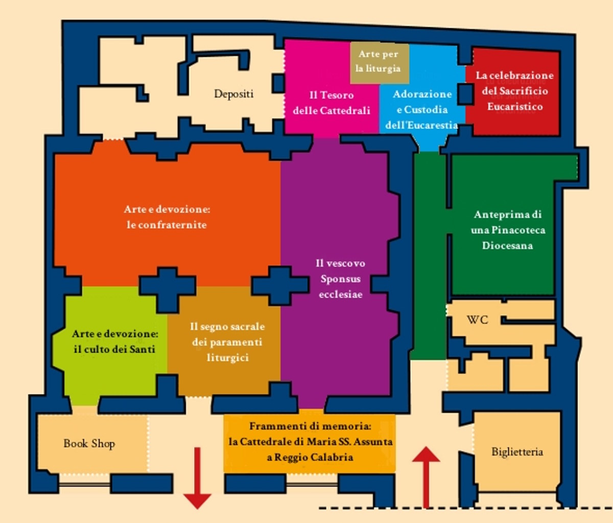 Piant-Mappa del- Museo-Diocesano-Monsignor-Aurelio-Sorrentino-cosa-vedere-a-Reggio-Calabria