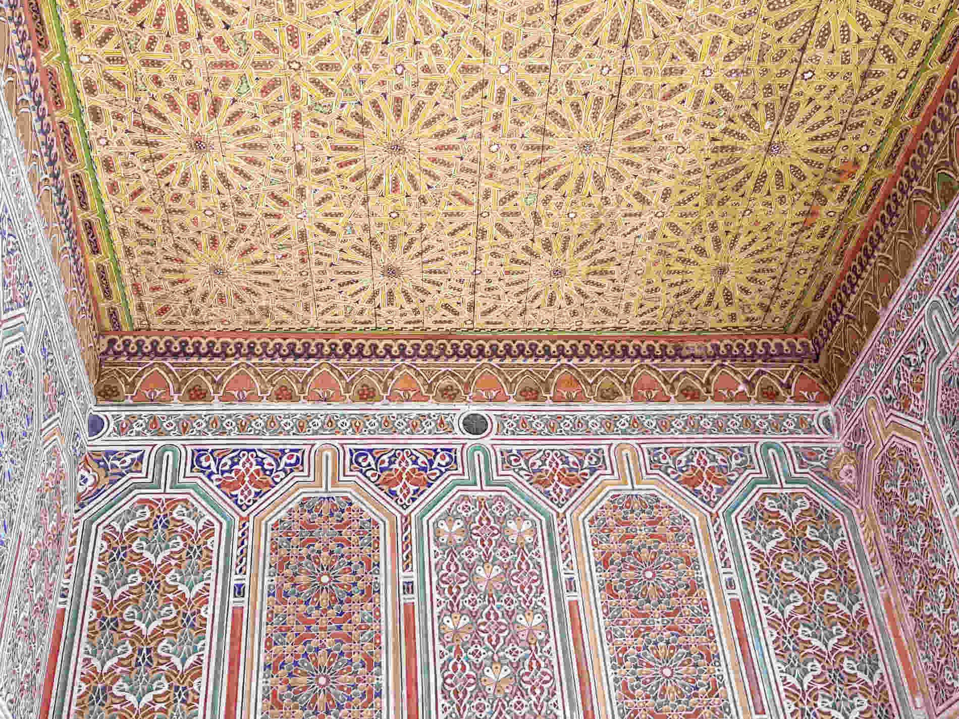 decorazioni dentro la Kasbah di Taourirt Cosa vedere a Ouarzazate e dintorni
