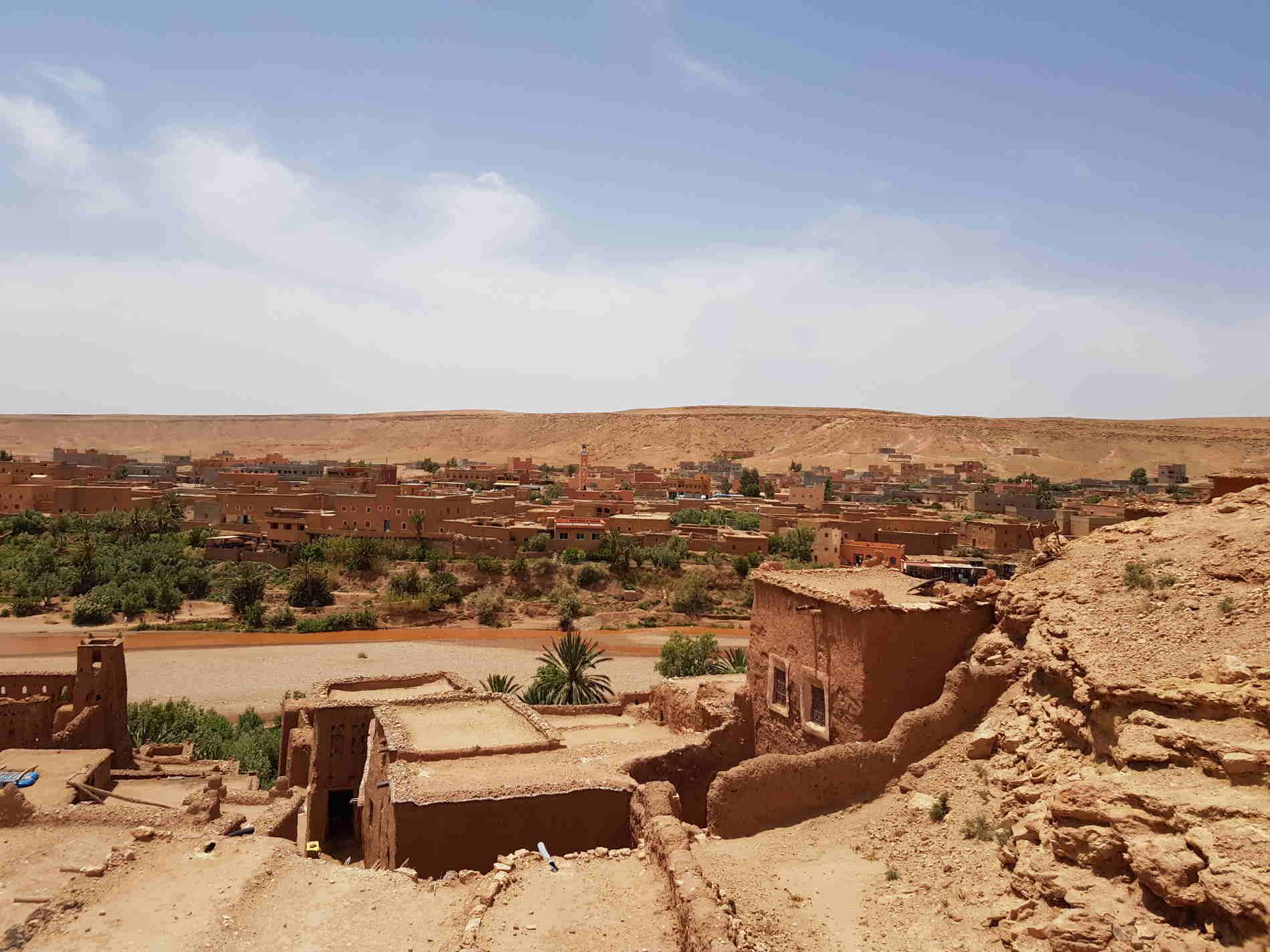 Coda vedere a Ourzazate e dintorni dall'alto del Ksar Ait Ben Haddou