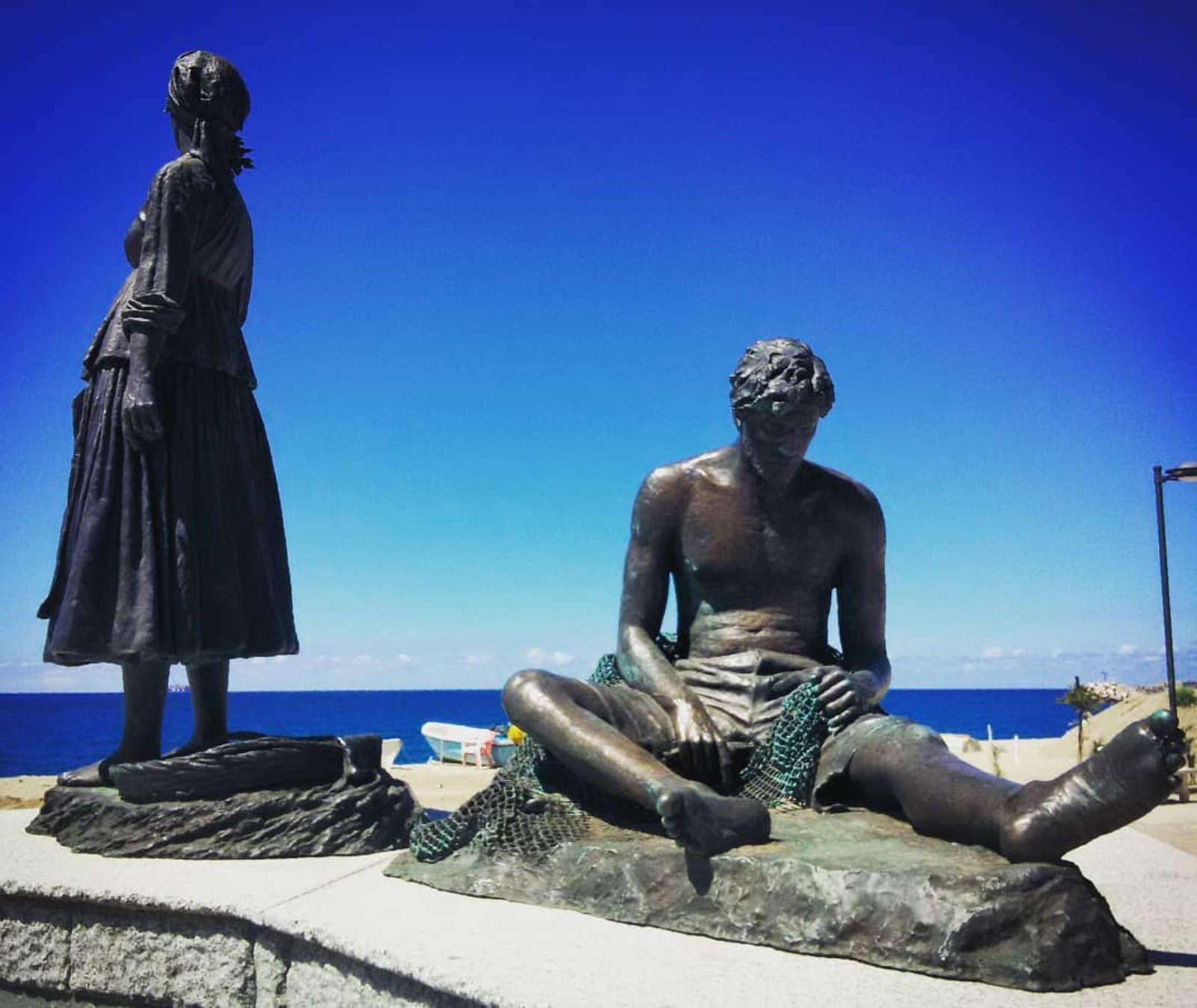 Statua del Pescatore sul Lungomare di Palmi 10 spiagge più belle a Reggio Calabria