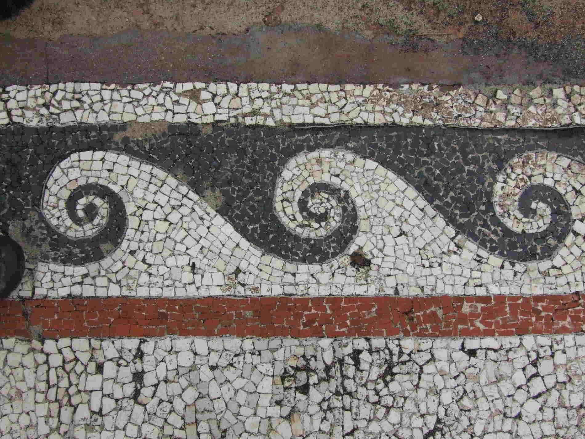 Particolare del Mosaico nella Casa del Drago Parco archeologico di Monasterace