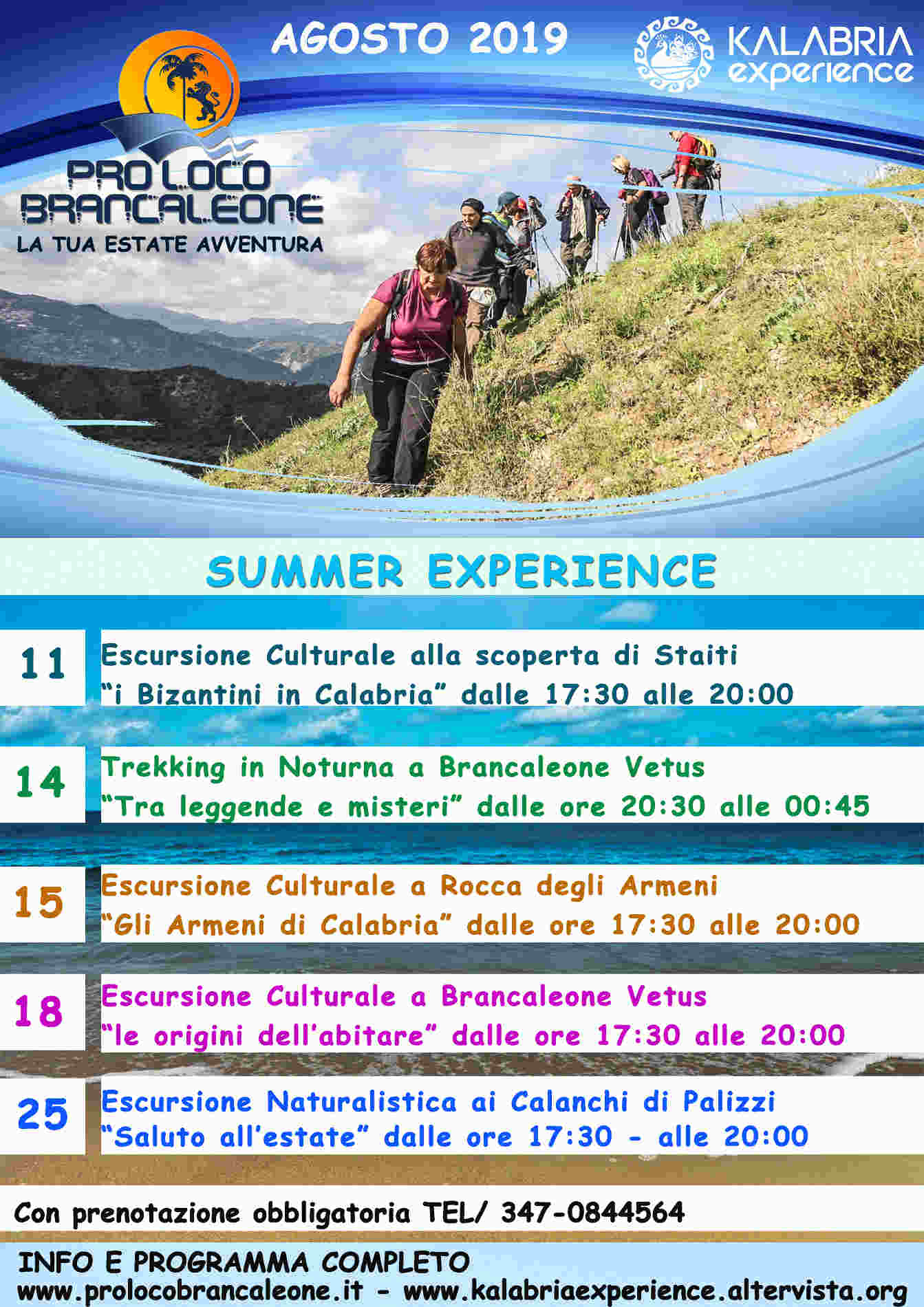 Vacanze sulla Costa Ionica di Reggio Calbria - Programma Estate a Brancaleone