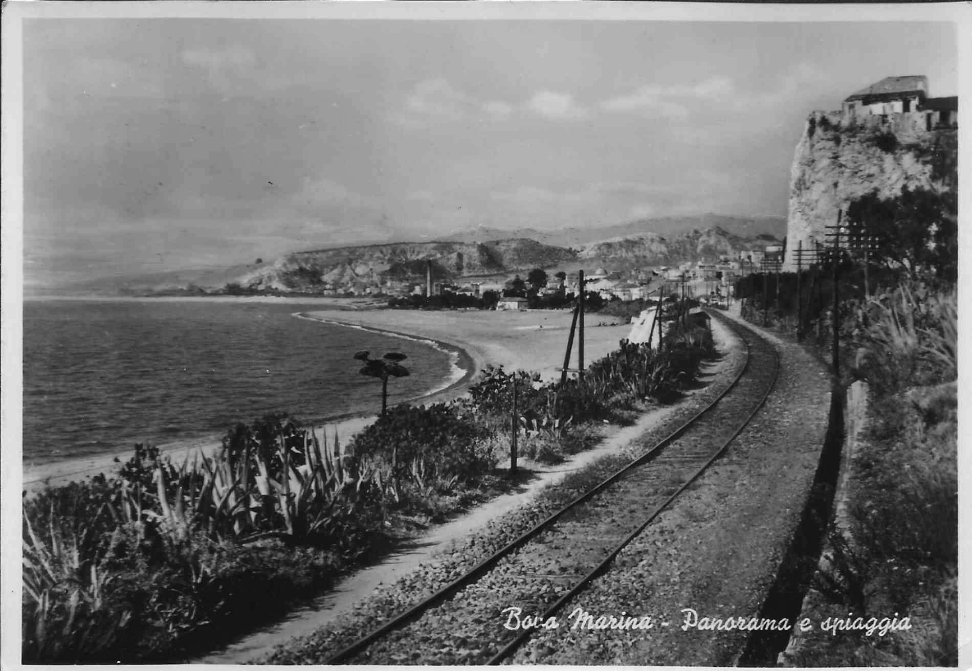 vecchia cartolina di Bova marina Reggio Calabria
