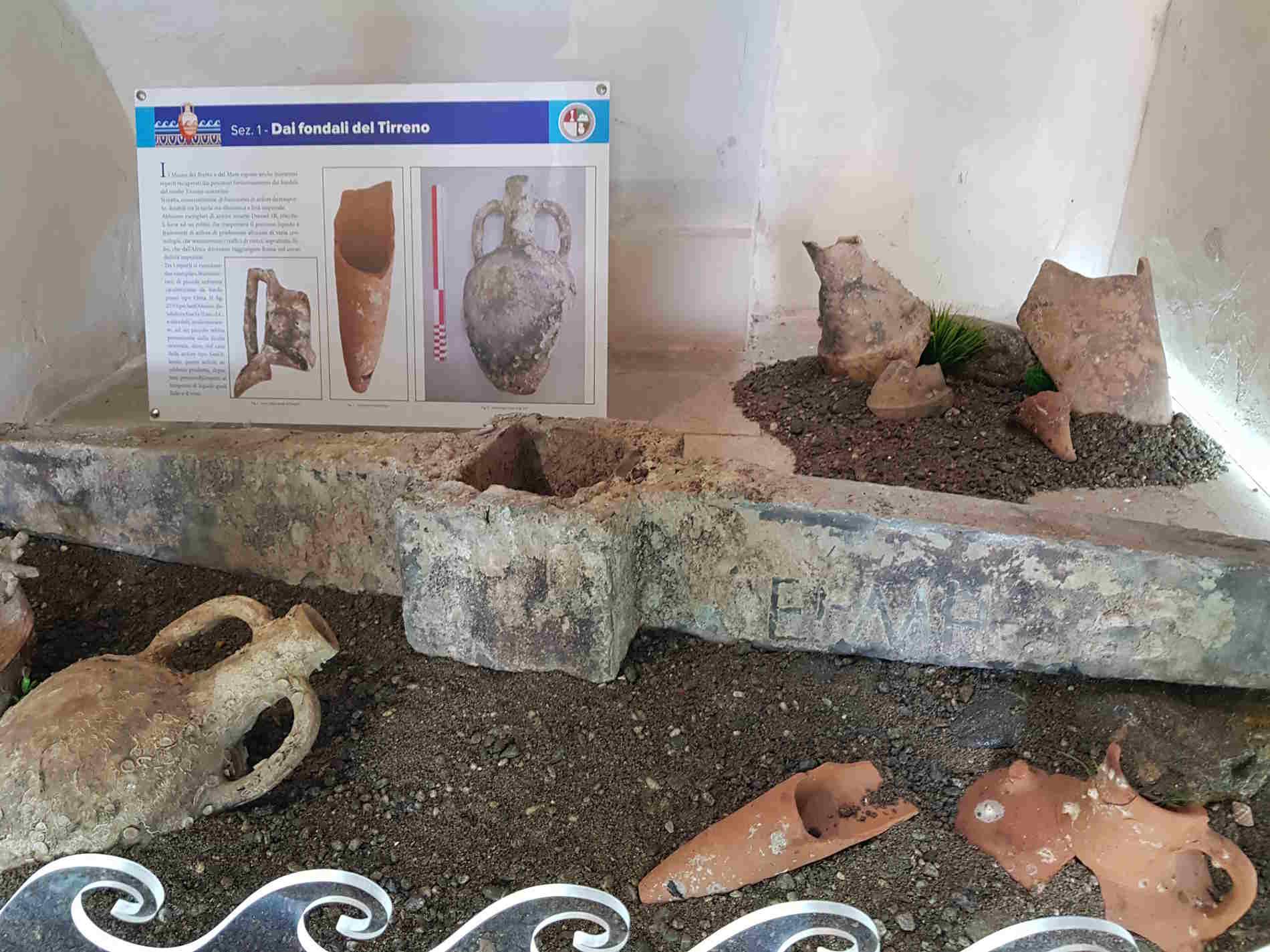 Sezione di ingresso al Museo dei Brettii e del mare