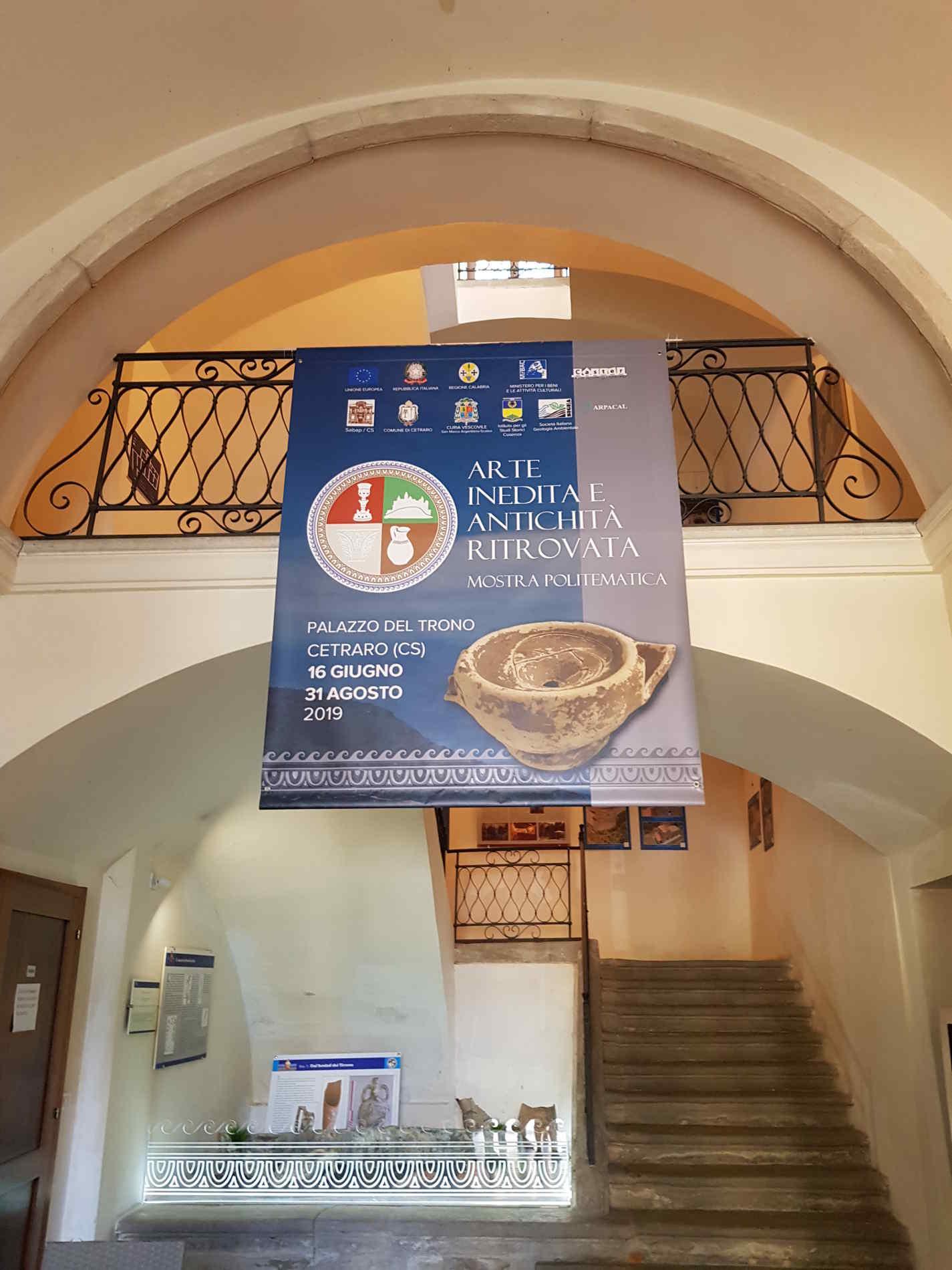 Sala d'ingresso al Palazzo Del Trono a Cetraro, oggi anche Museo dei Bretti e del Mare