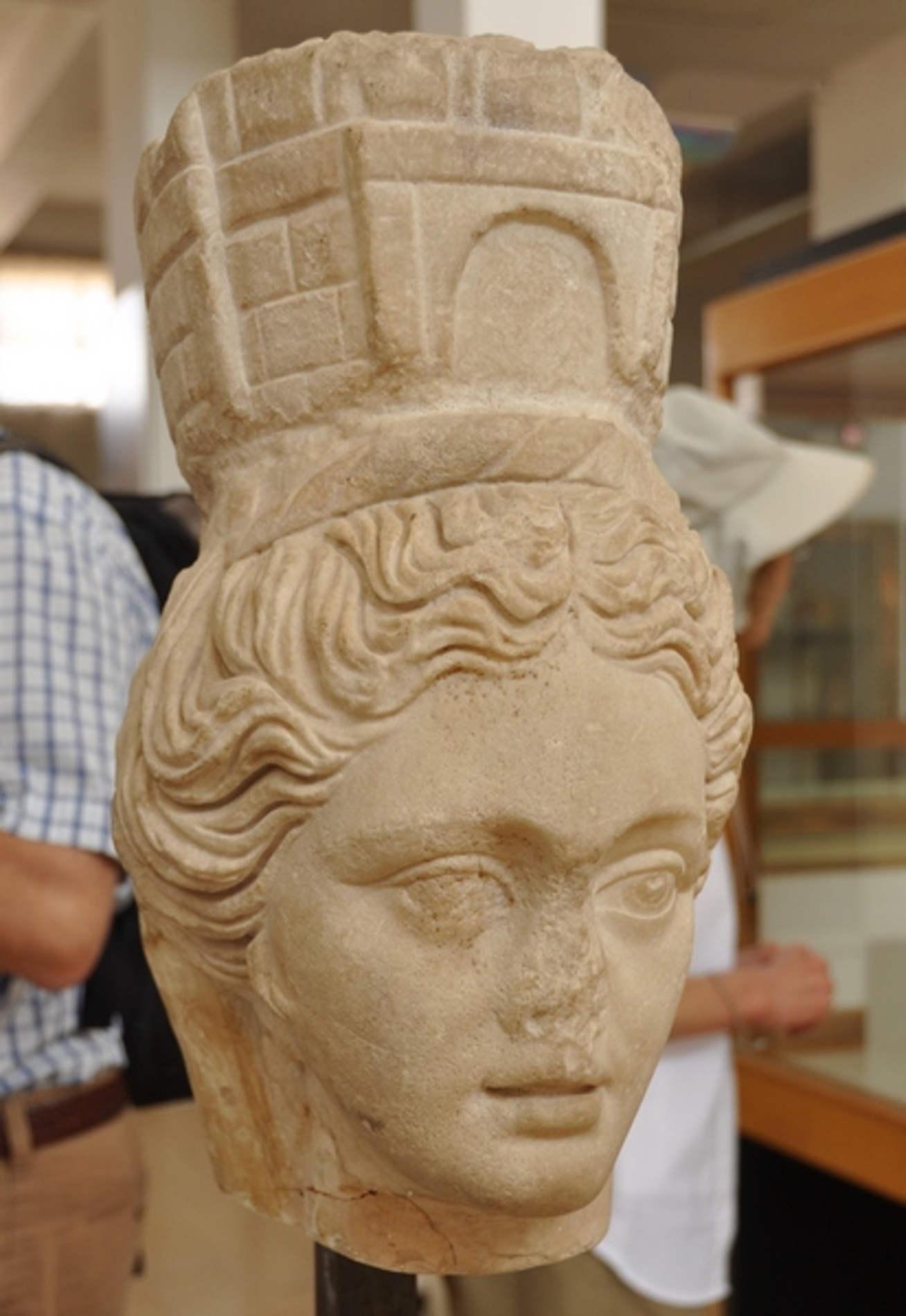 Museo Archeologico di Amman testa di Tyche dea della fortuna
