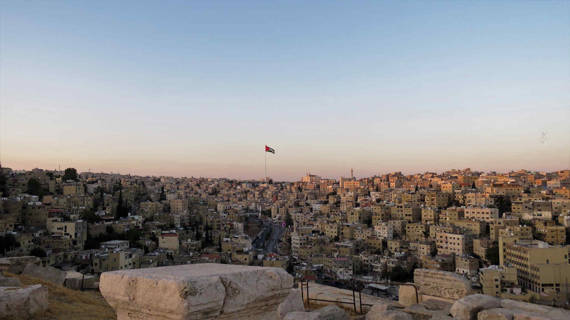Cosa vedere ad Amman - Vista sulle colline di Amman dalla Cittadella