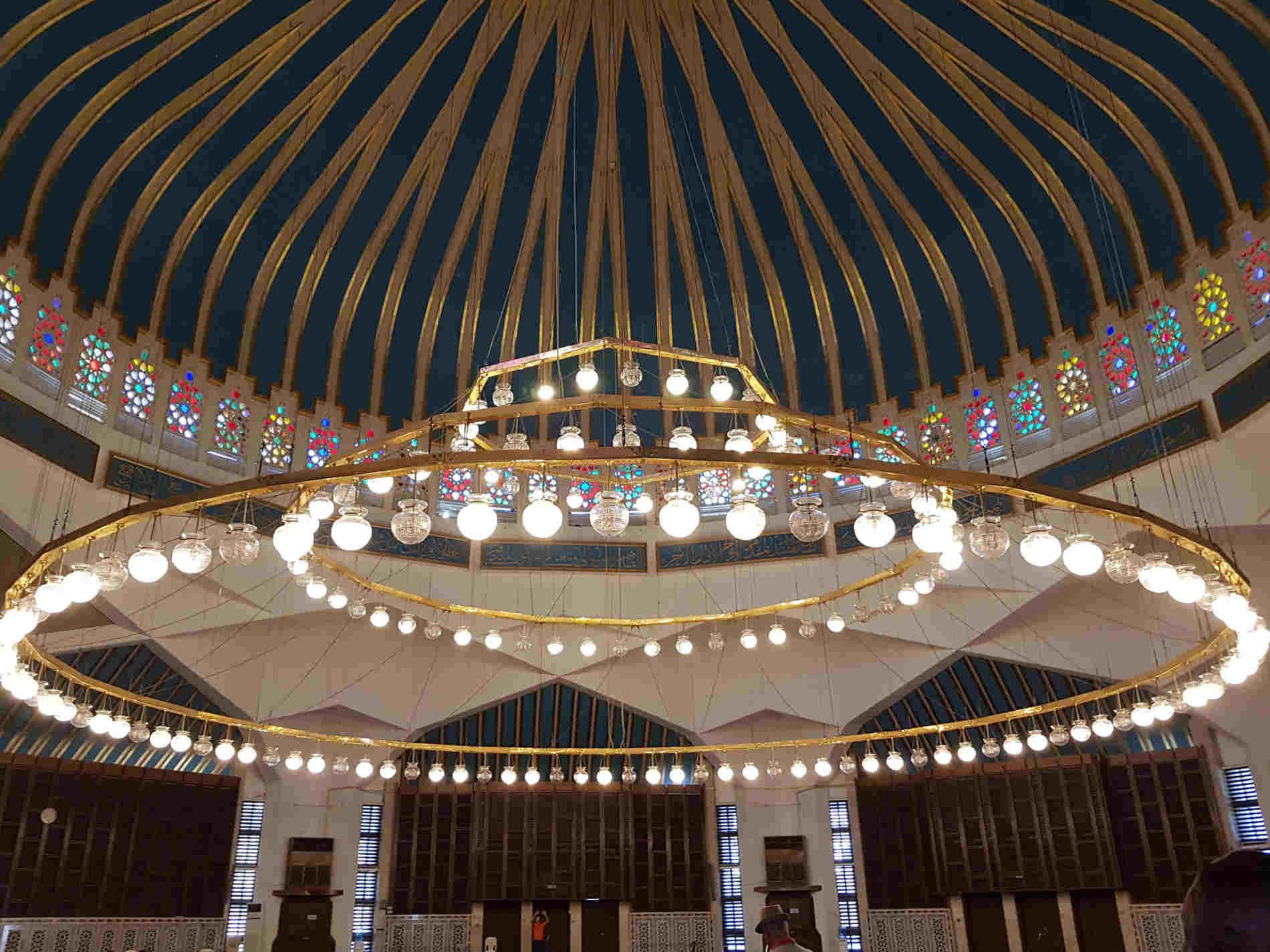 Interno della Moschea di re Abdullah ad Amman