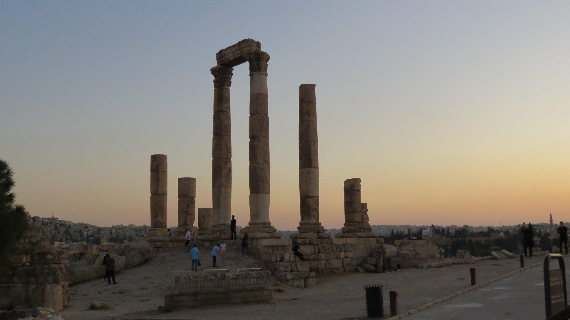 Tempioio di Ercoleal Tramonto - Cittadella di Amman
