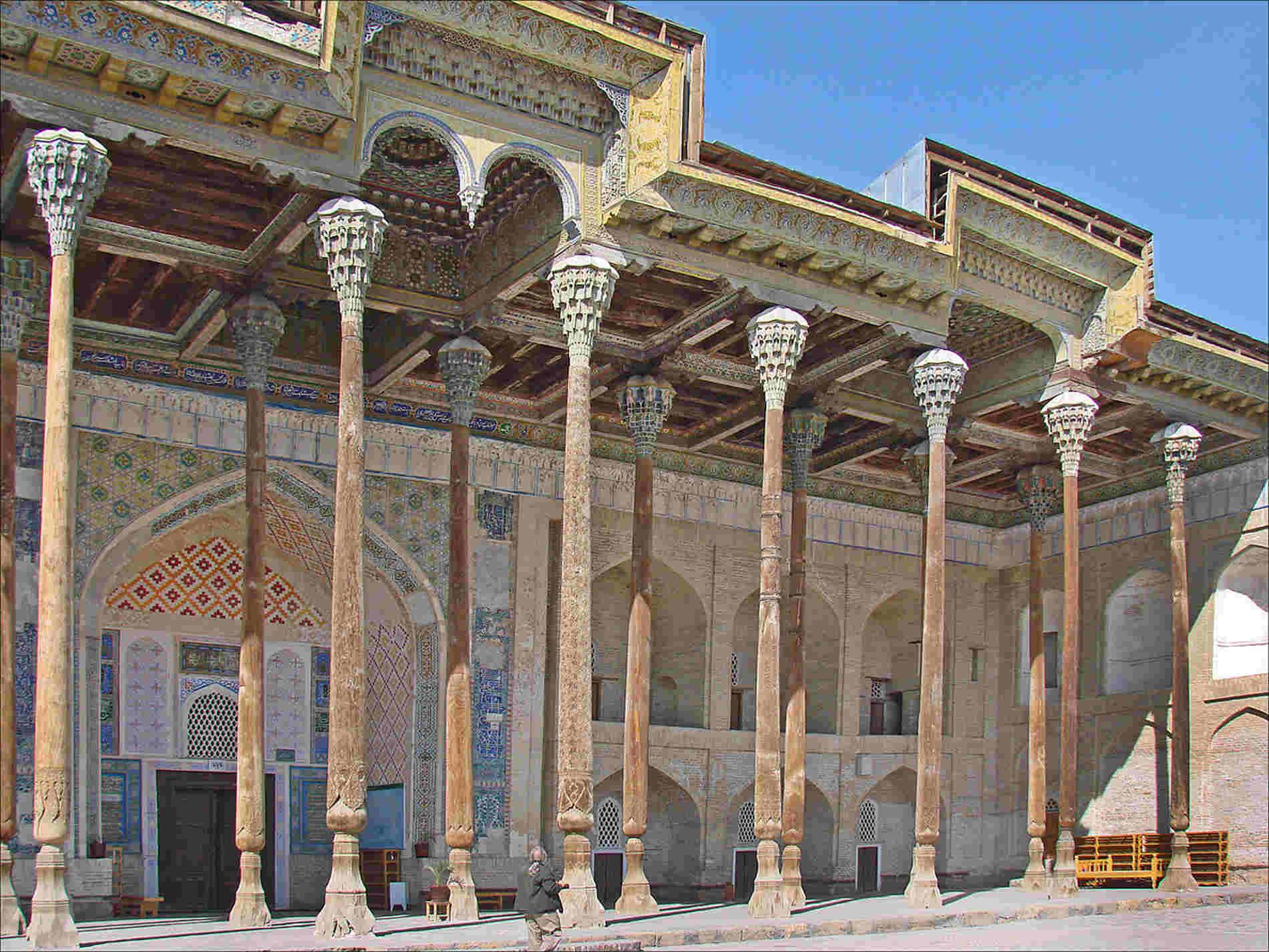 Moschea-Bolo-Khaouz-a Bukhara-tappa-del-tour-inUzbekistan