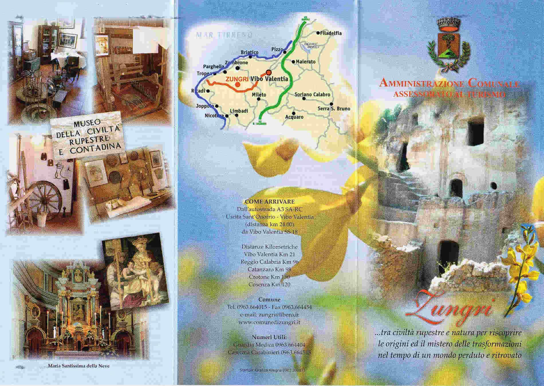 Brochure di presentazione del sito di Zungri
