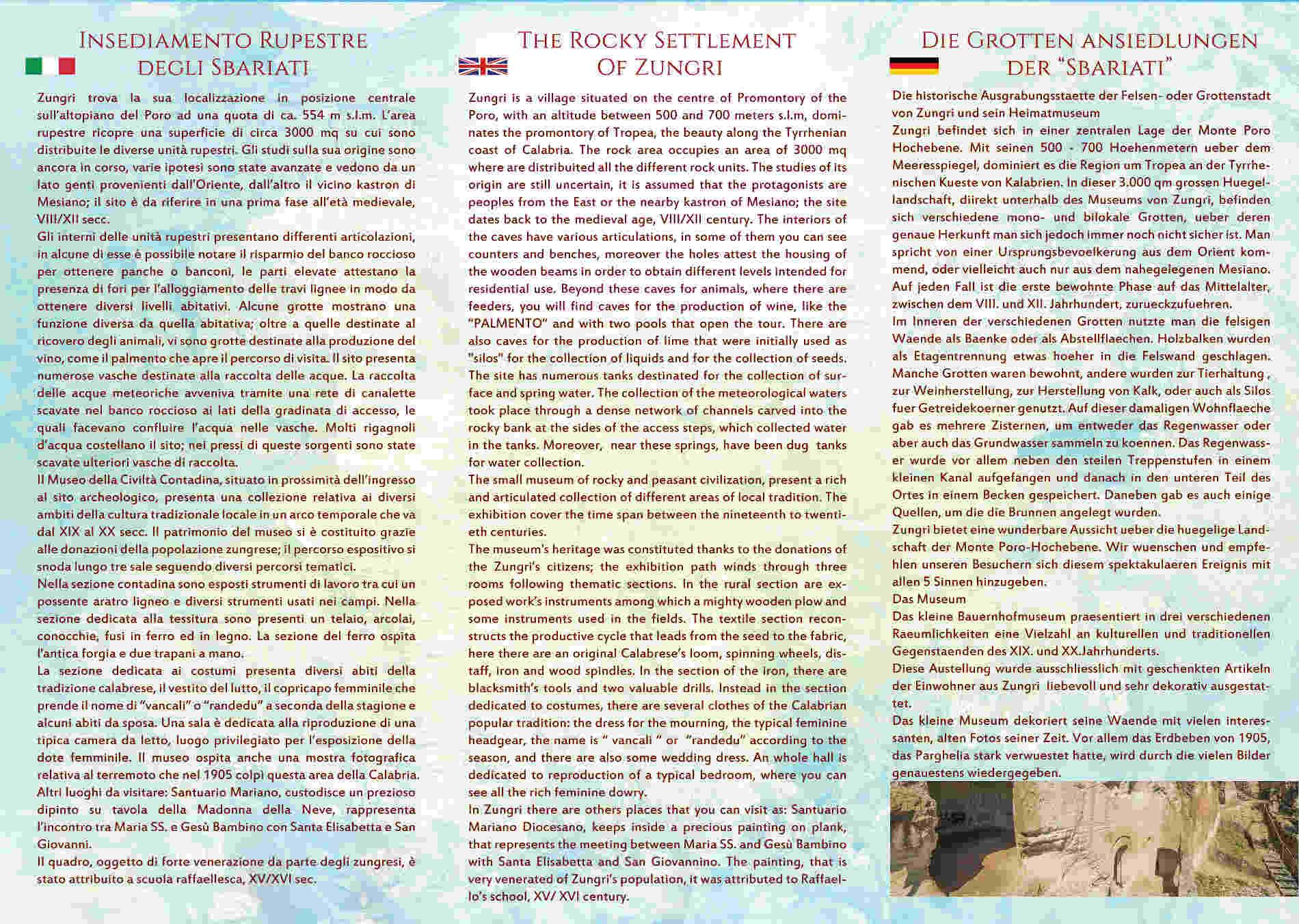 Esterno della Brochure di Presentazione del Sito