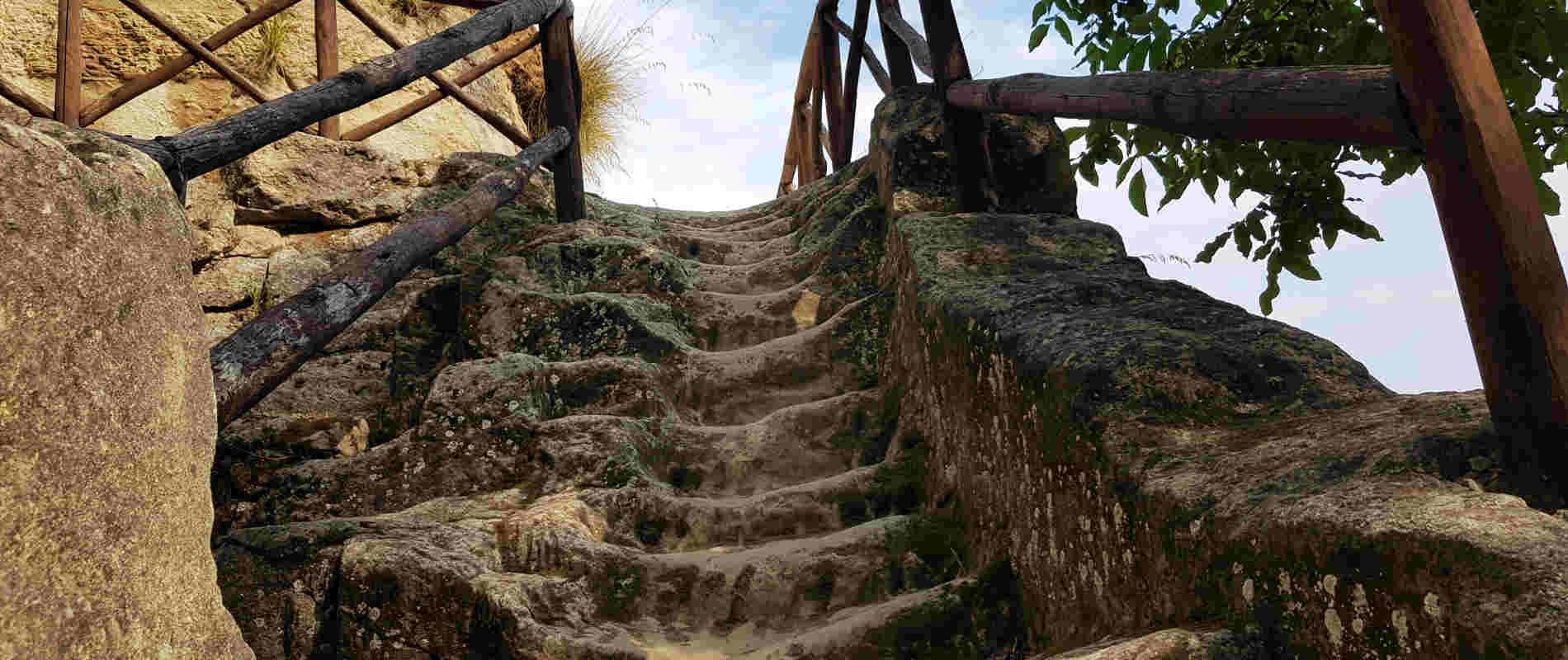 Antiche scale fra le grotte di Zungri