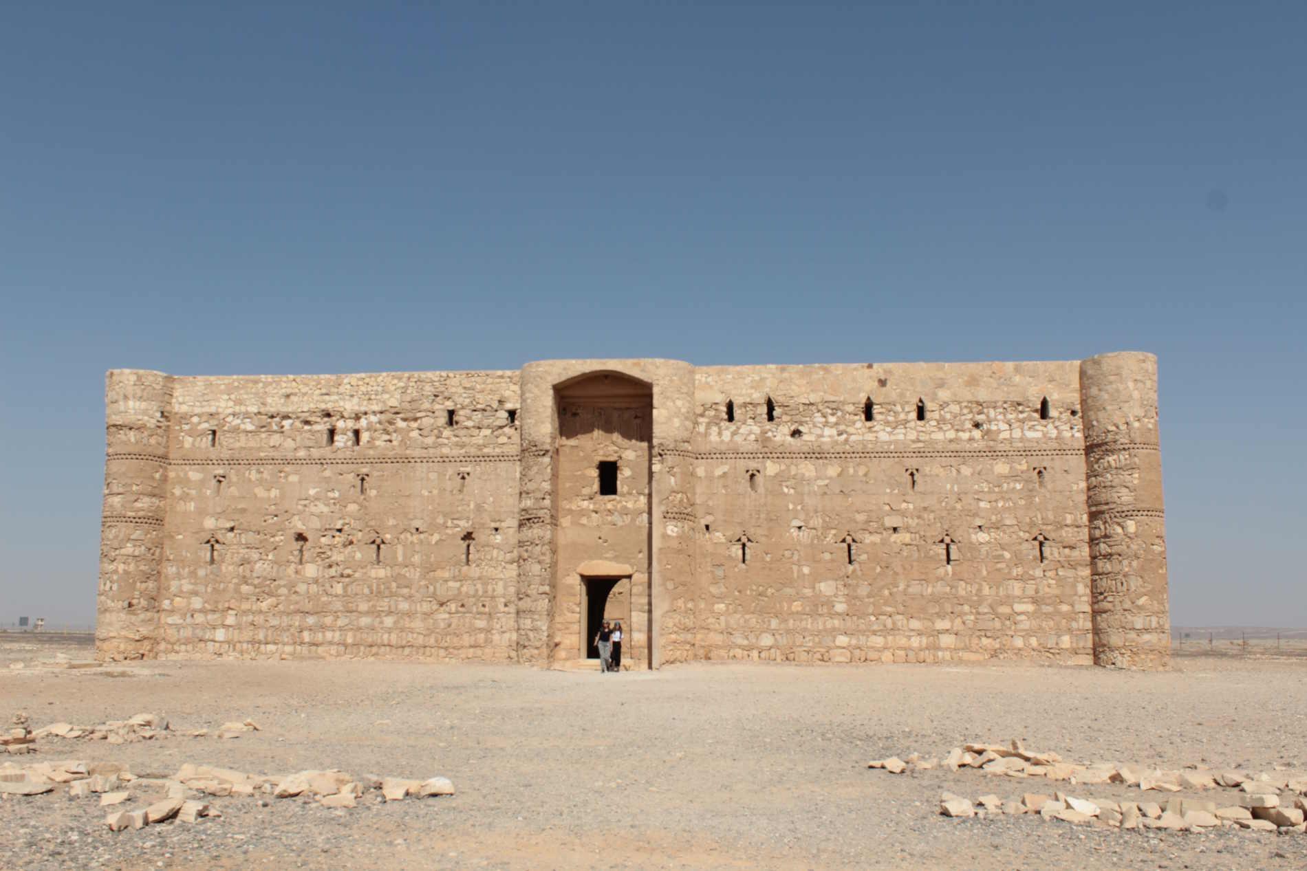 Castello di al-Kharana nel deserto nord orientale della Giordania