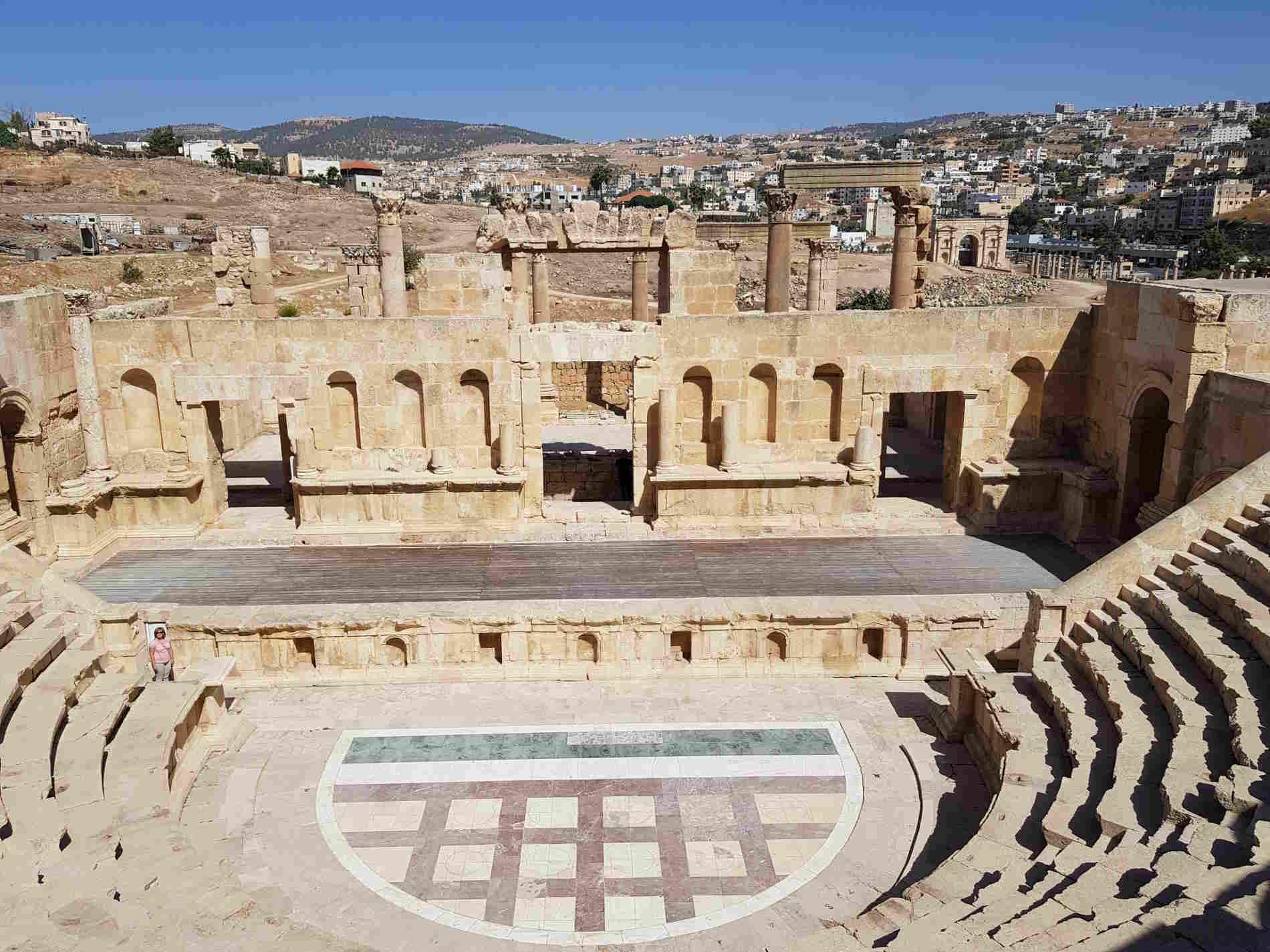 Teatro Romano a Jerash da vedere e visitare in Giordania