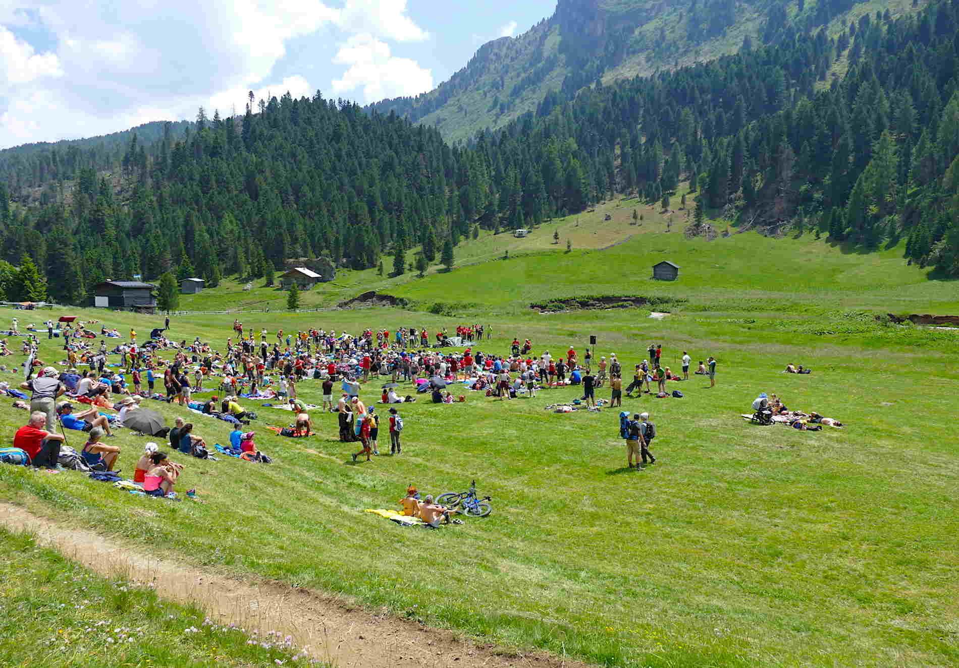 Spettacolo suono delle Dolomiti in Val Duron