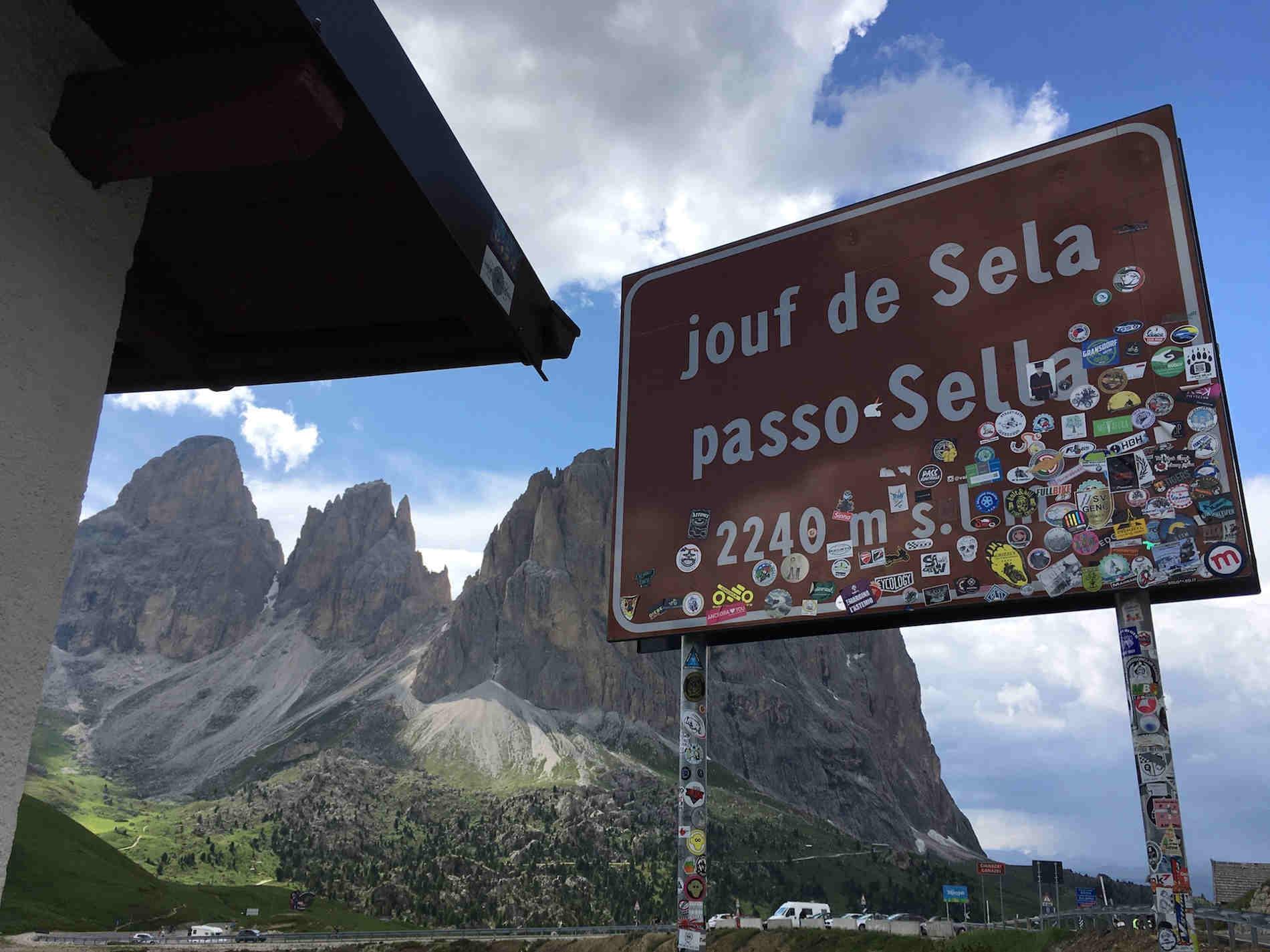 Il passo Sella sulle Dolomiti Trentine