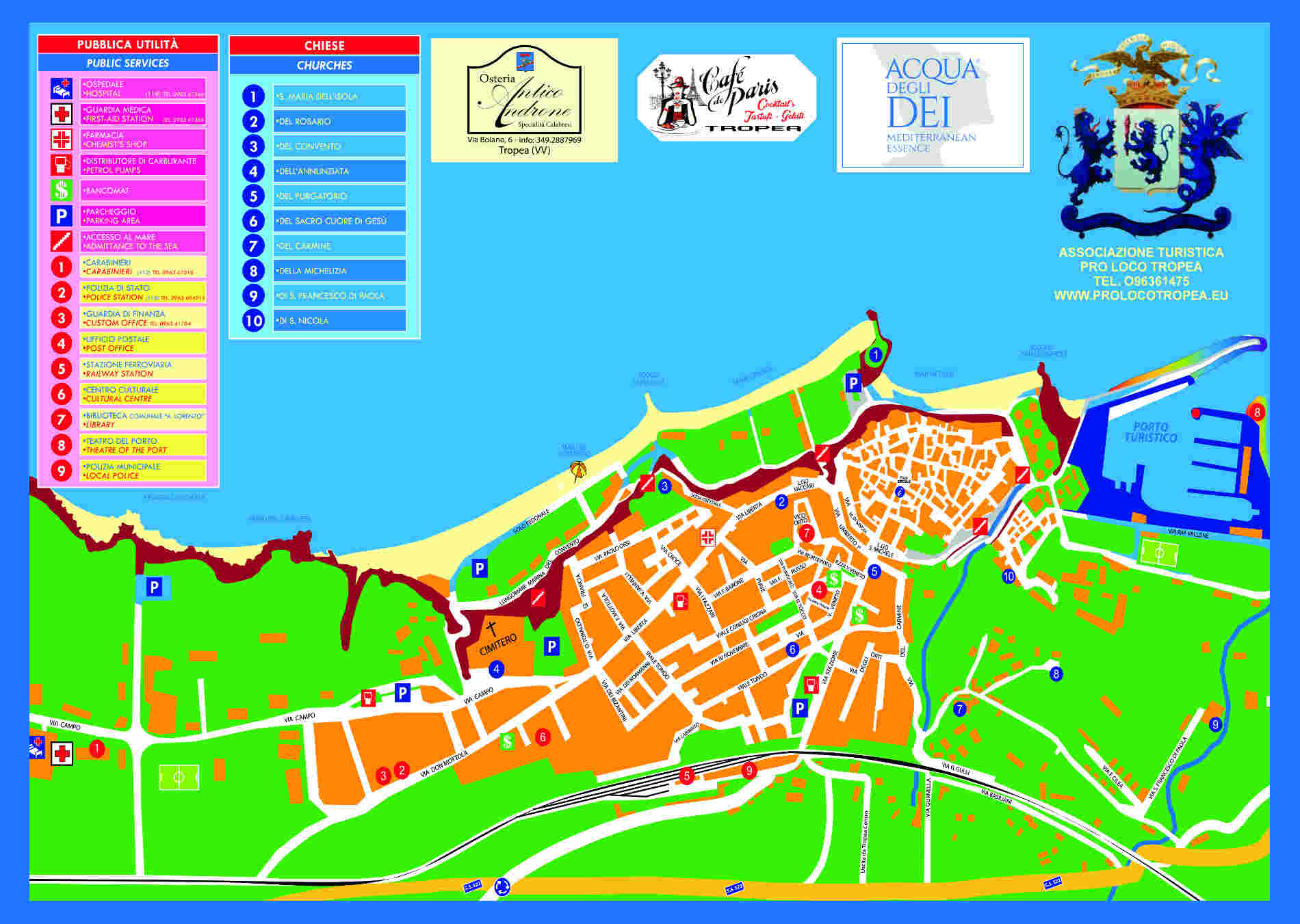 mappa turistica di Tropea