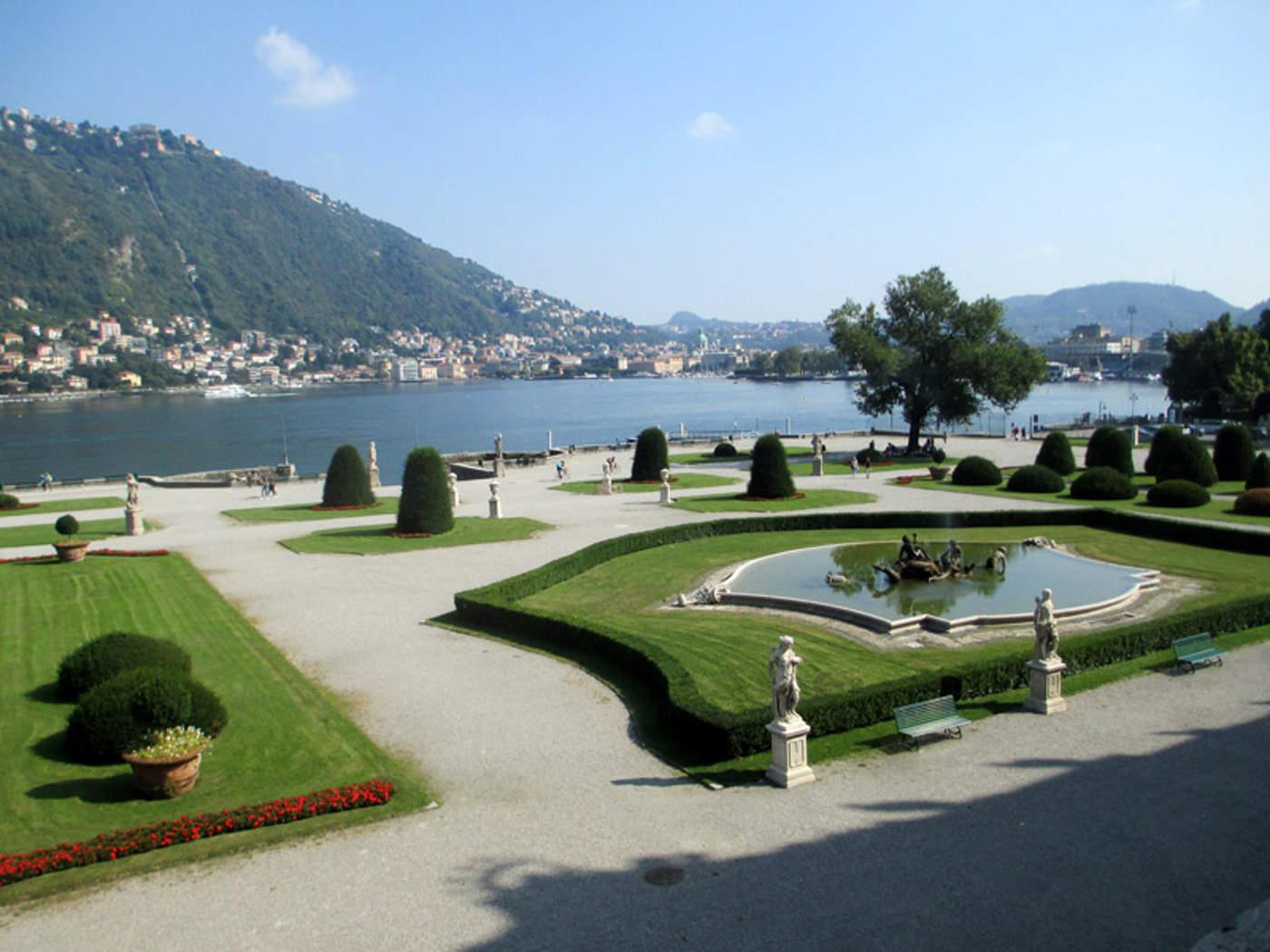 giardini di Villa Olmo escersioni con le guide turistiche sul Lago di Como