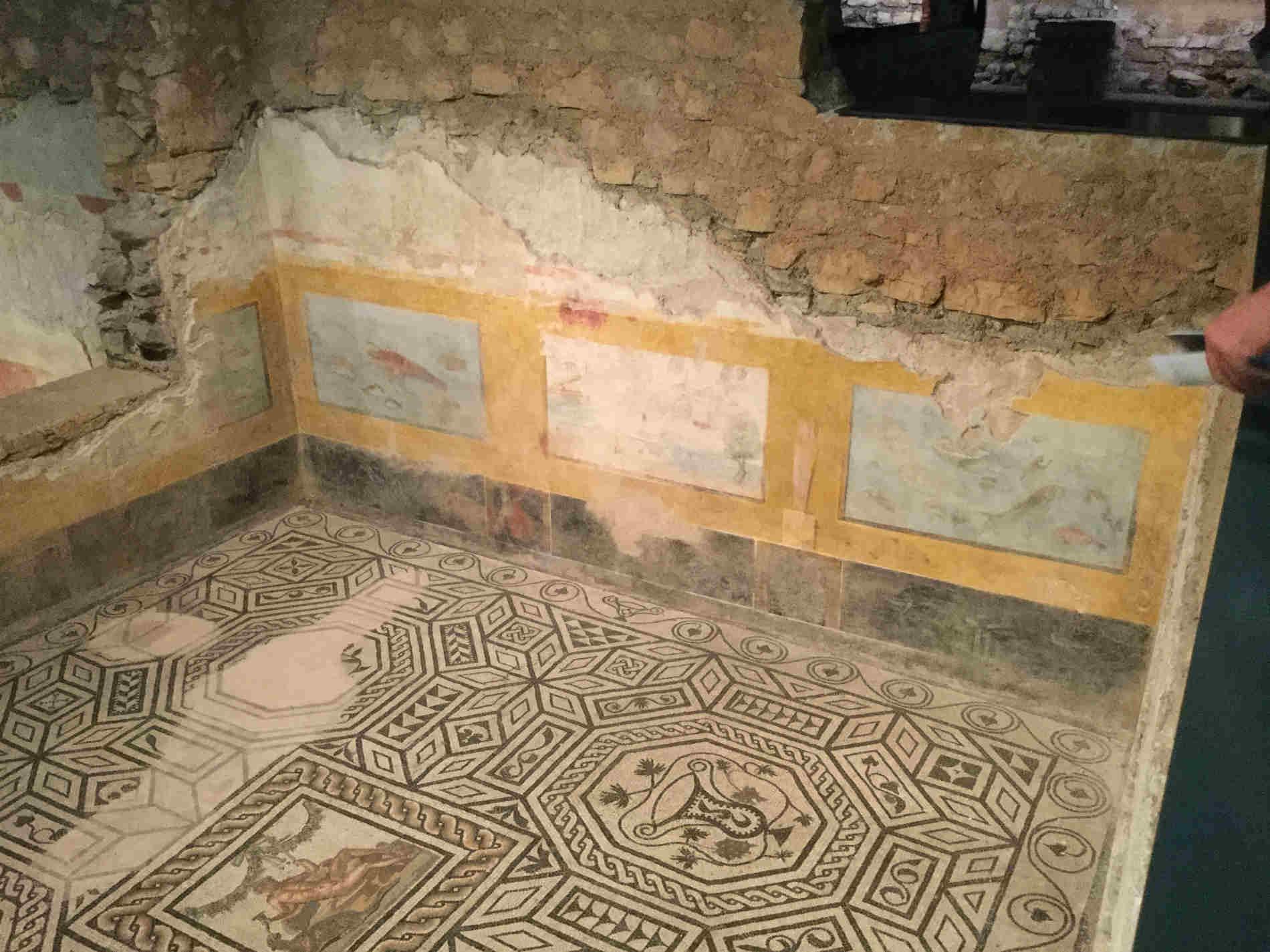 le stanze della Domus dell'Ortaglia a Brescia