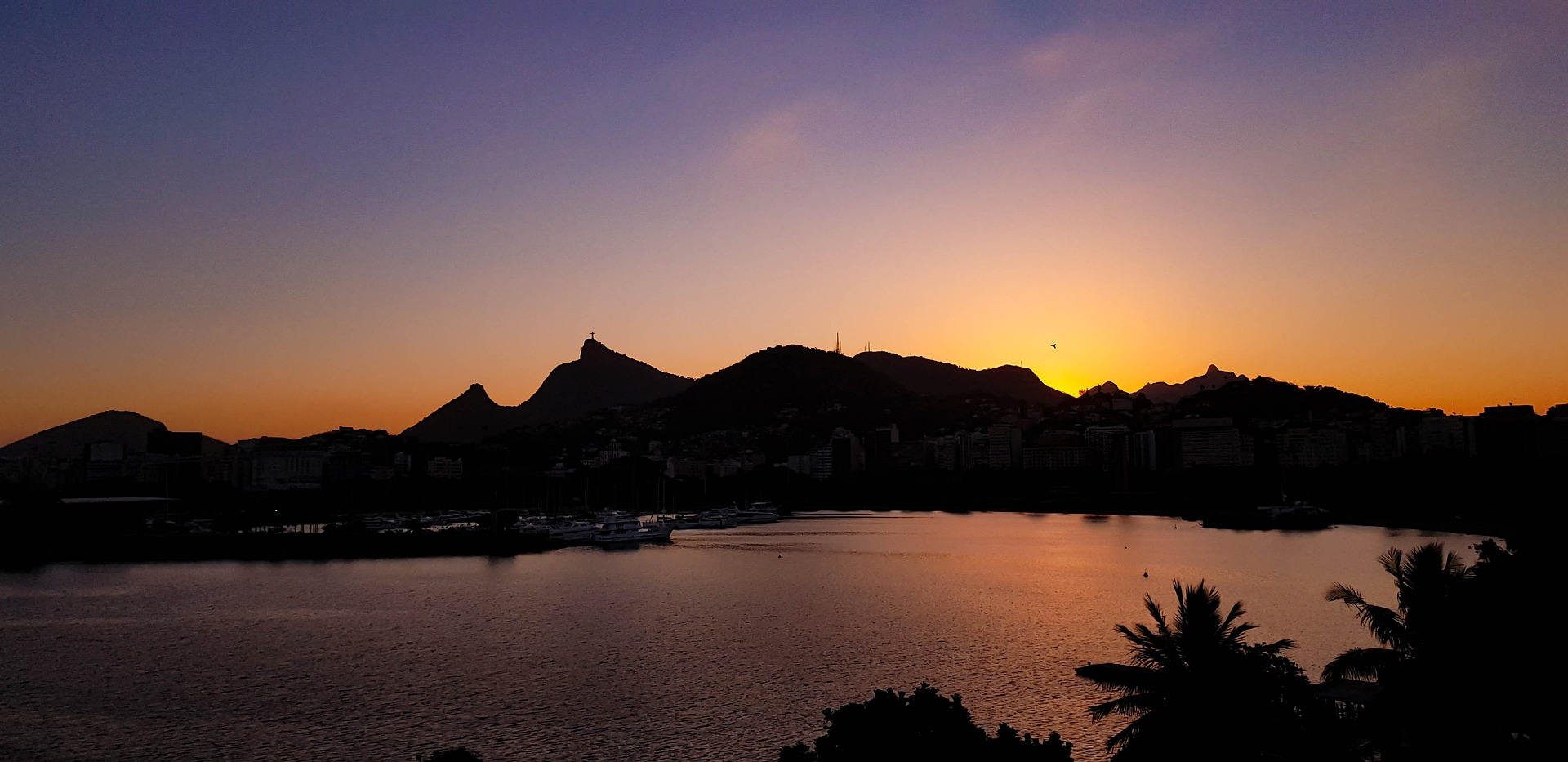 Panorama dal Corcovado della Baia di Rio de Janeiro