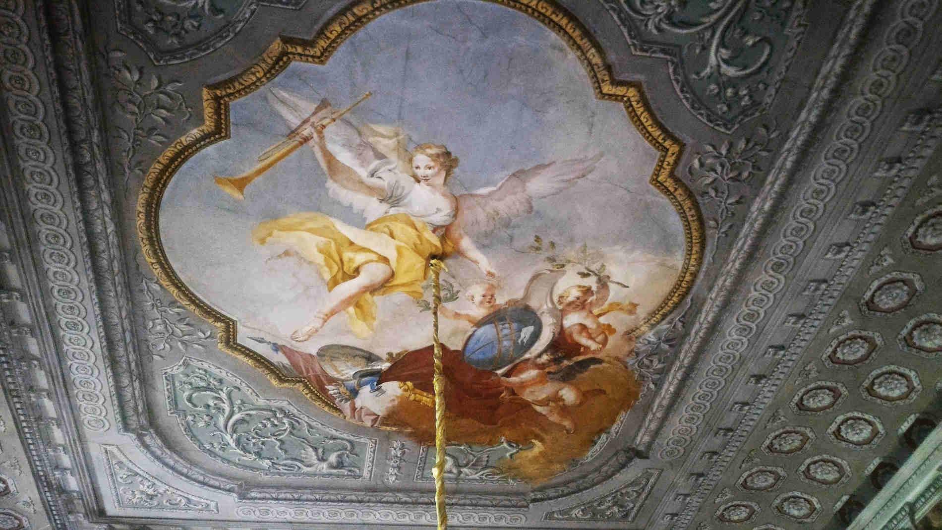 Palazzo Calini ai Fiumi a Brescia- Magnifico soffitto