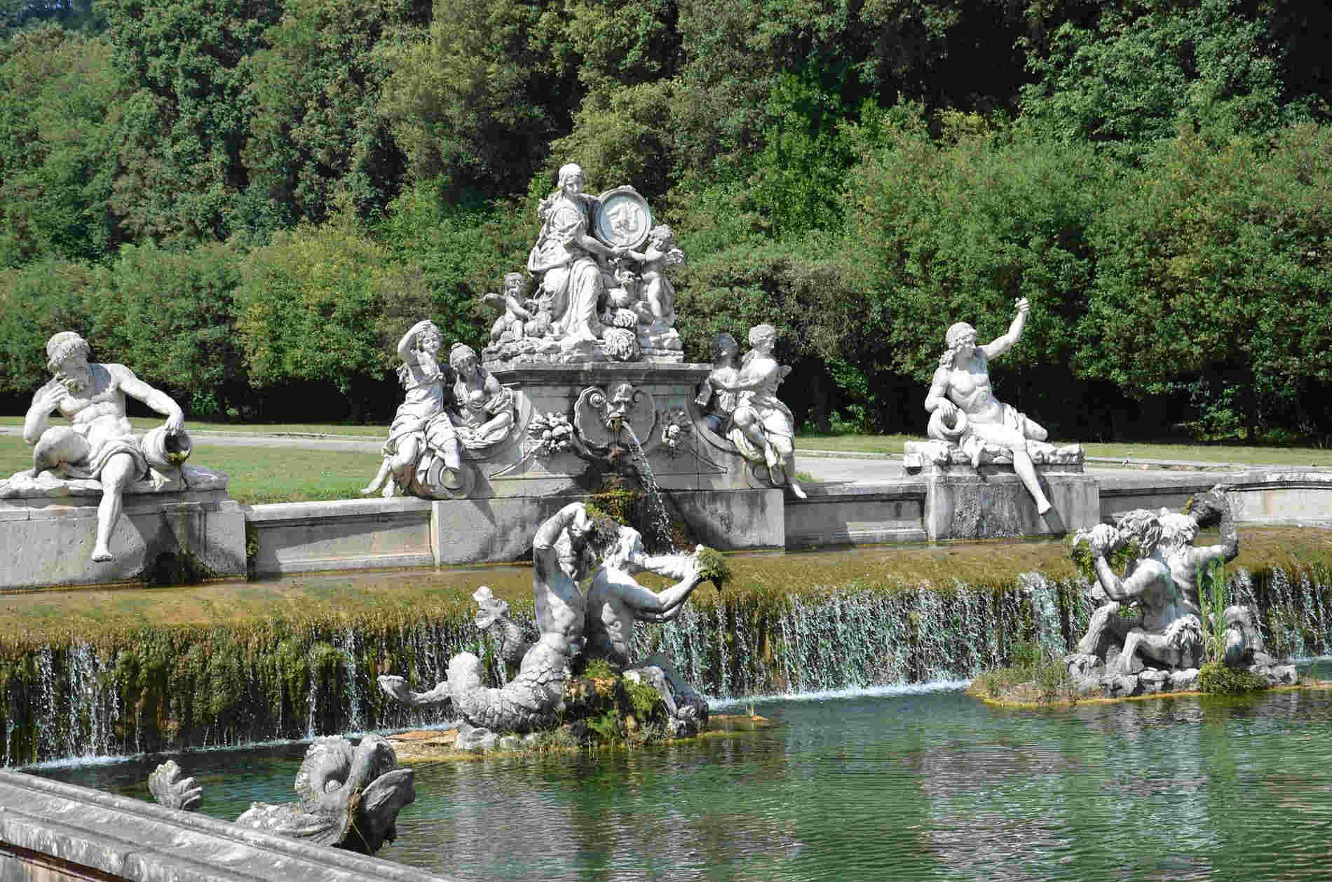 Fontane nei Giardini della Reggia di Caserta