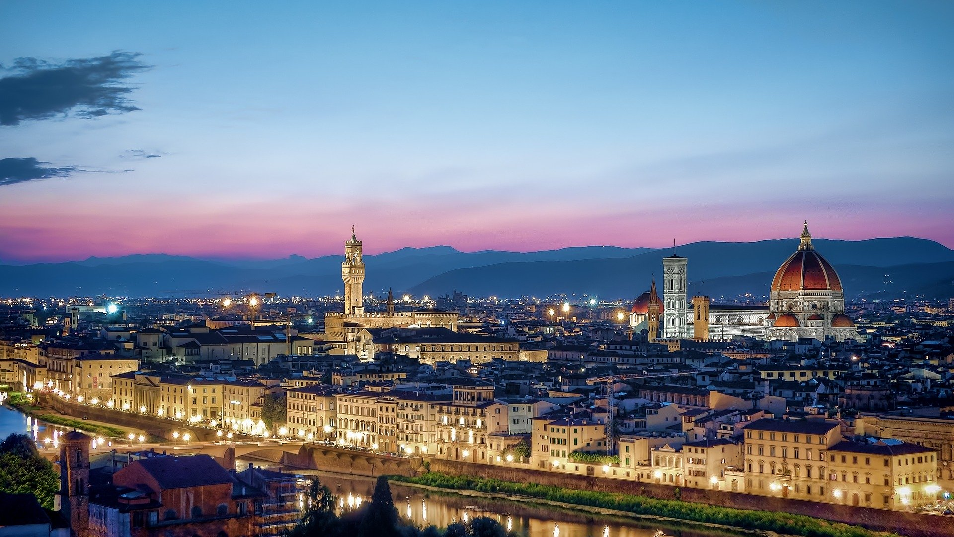 Panorama di Firenze siti UNESCO in Italia patrimoni dell'Umanità