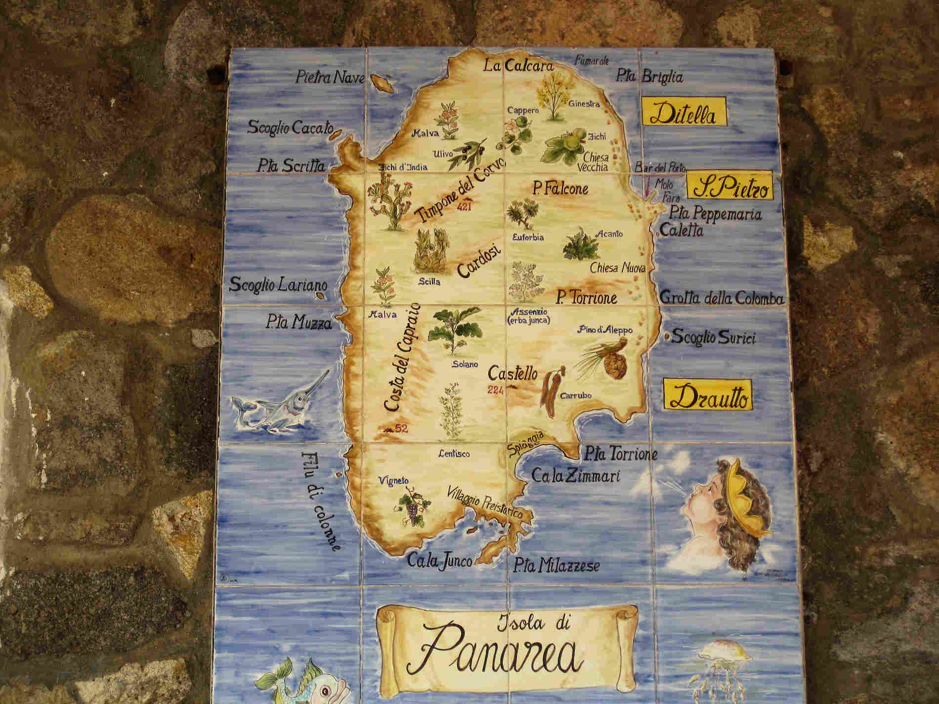 mappa Isola di Panarea Isole Eolie