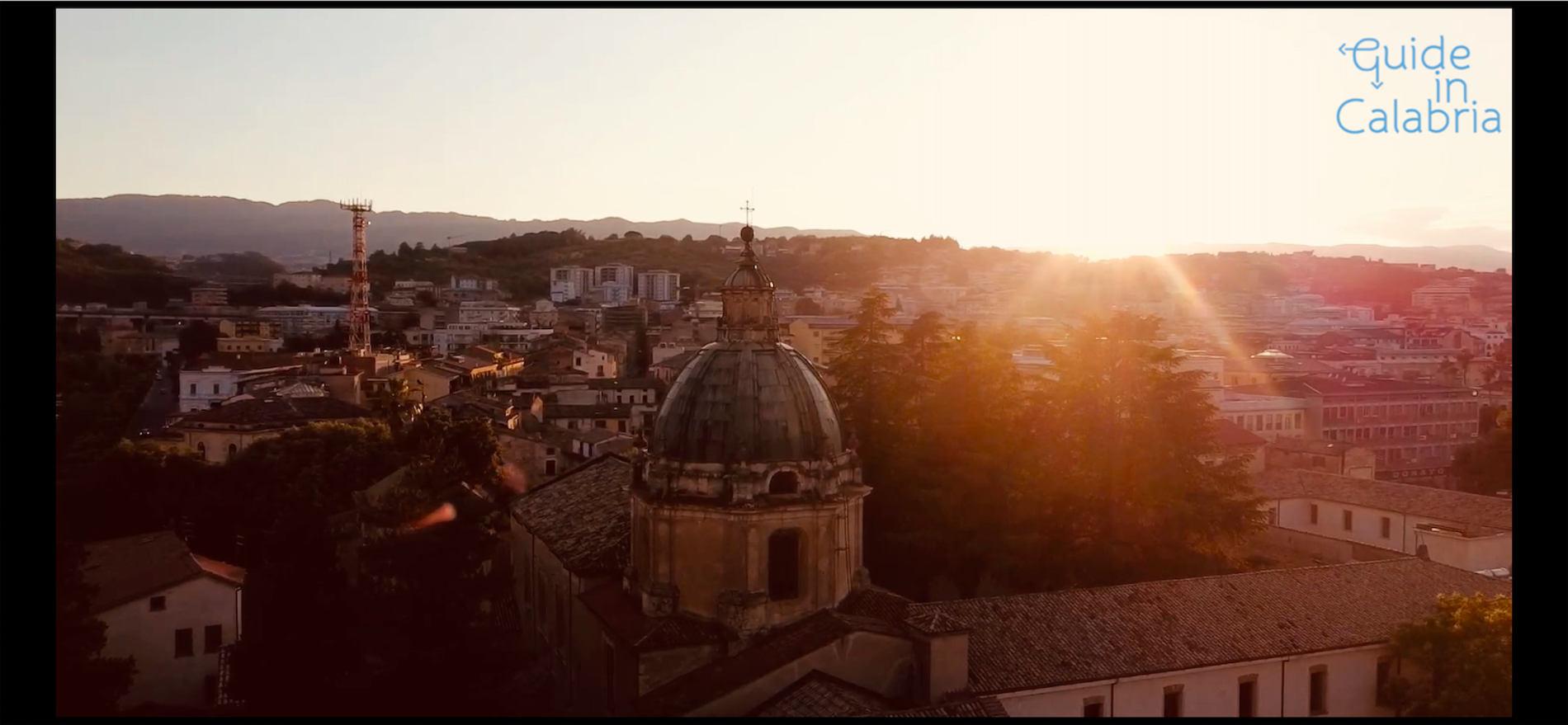 Tramonto su San Domenico a Cosenza