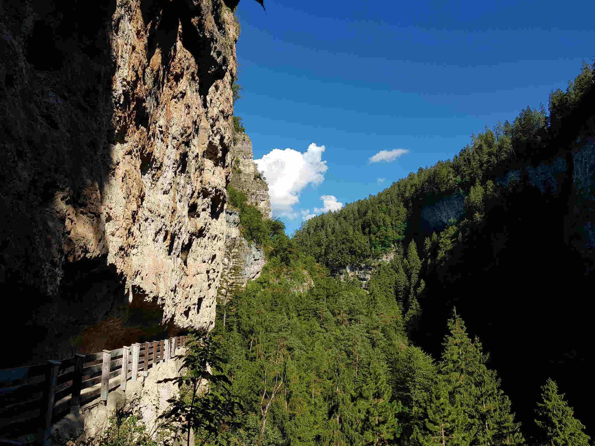 panrami nella forra del sentiero per il santuario di San Romedio Val Di Non Trentino