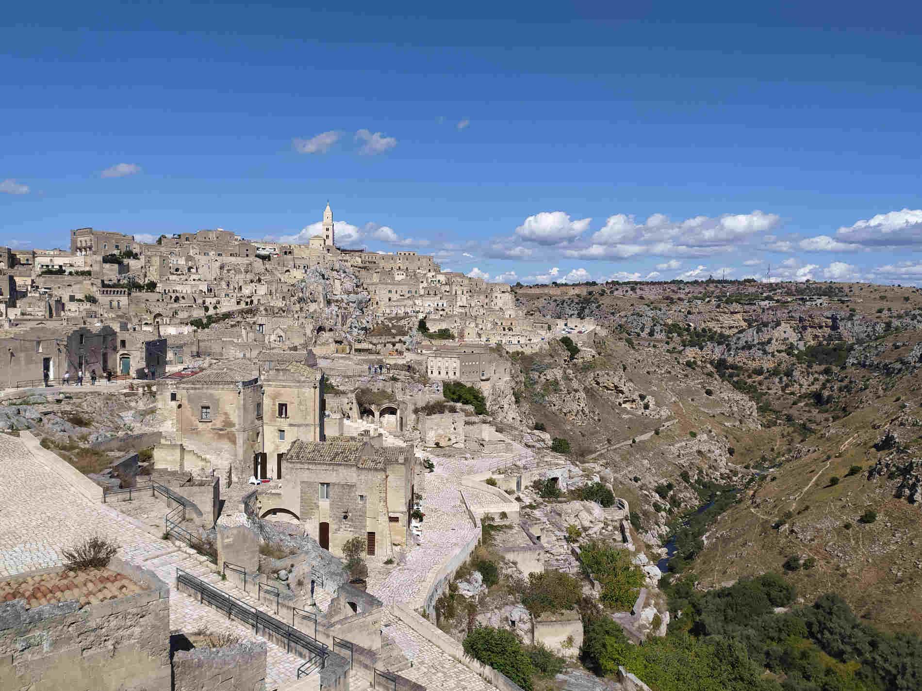 Panorami sulla Gravina e sui Sassi di Matera