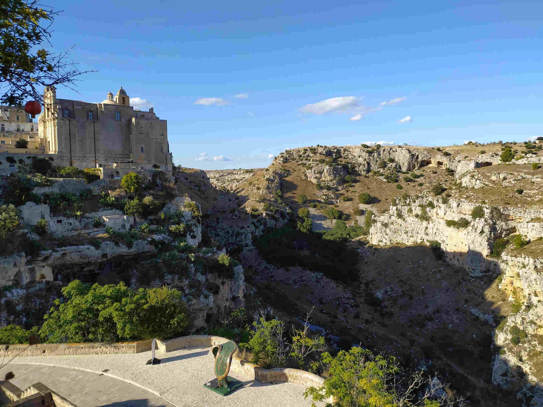 Panorami sulla Gravina di Matera e Sasso Barisano